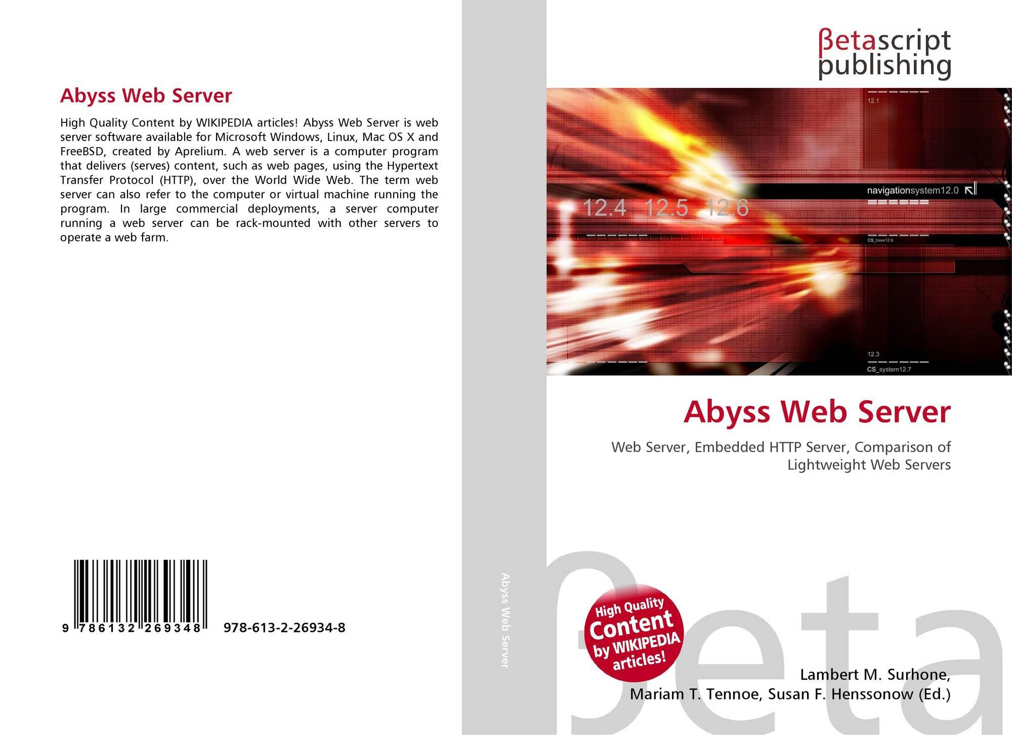 Abyss Web Server, 978-613-2-26934-8, 6132269347 ,9786132269348
