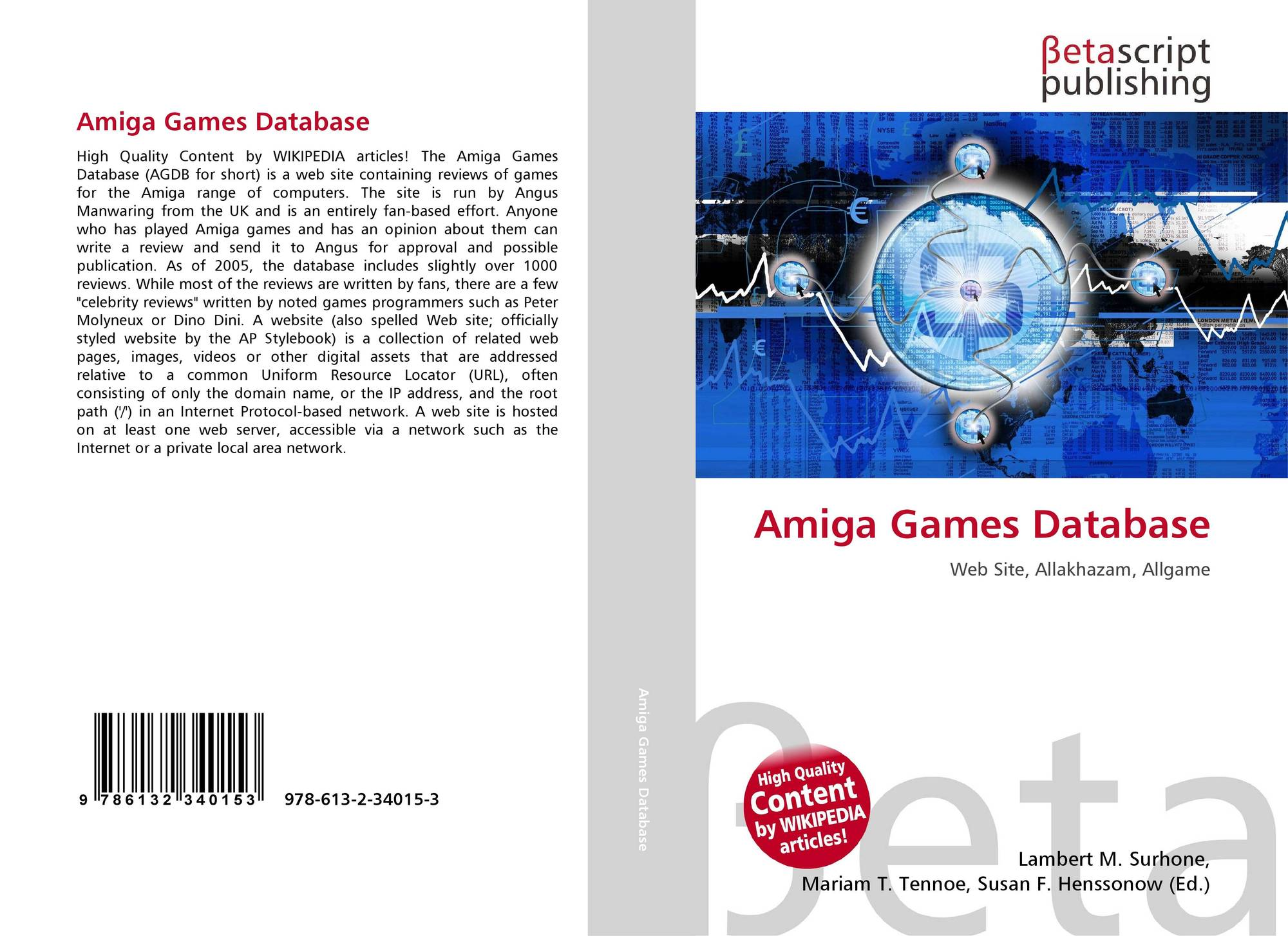 Amiga Games Database, 978-613-2-34015-3, 6132340157