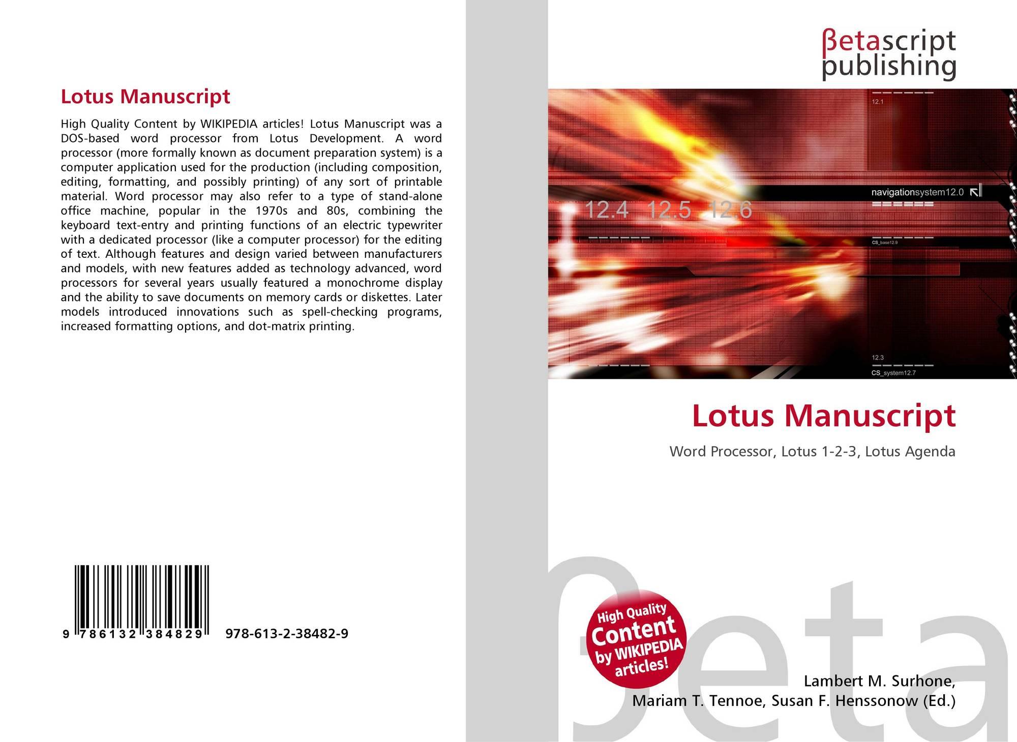 Lotus Manuscript 978 613 2 38482 9 6132384820 9786132384829