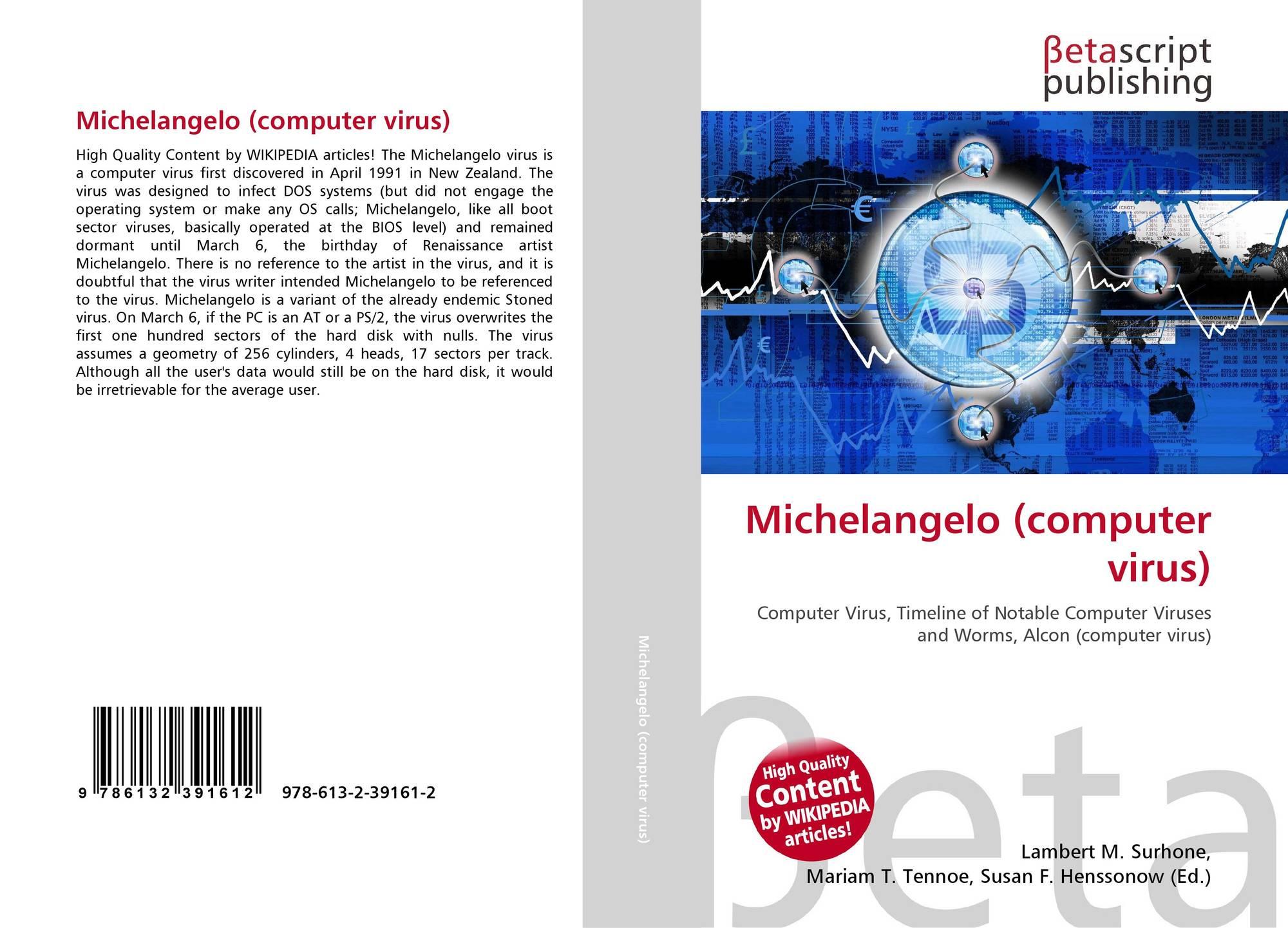 Michelangelo (computer virus), 978-613-2-39161-2, 6132391614