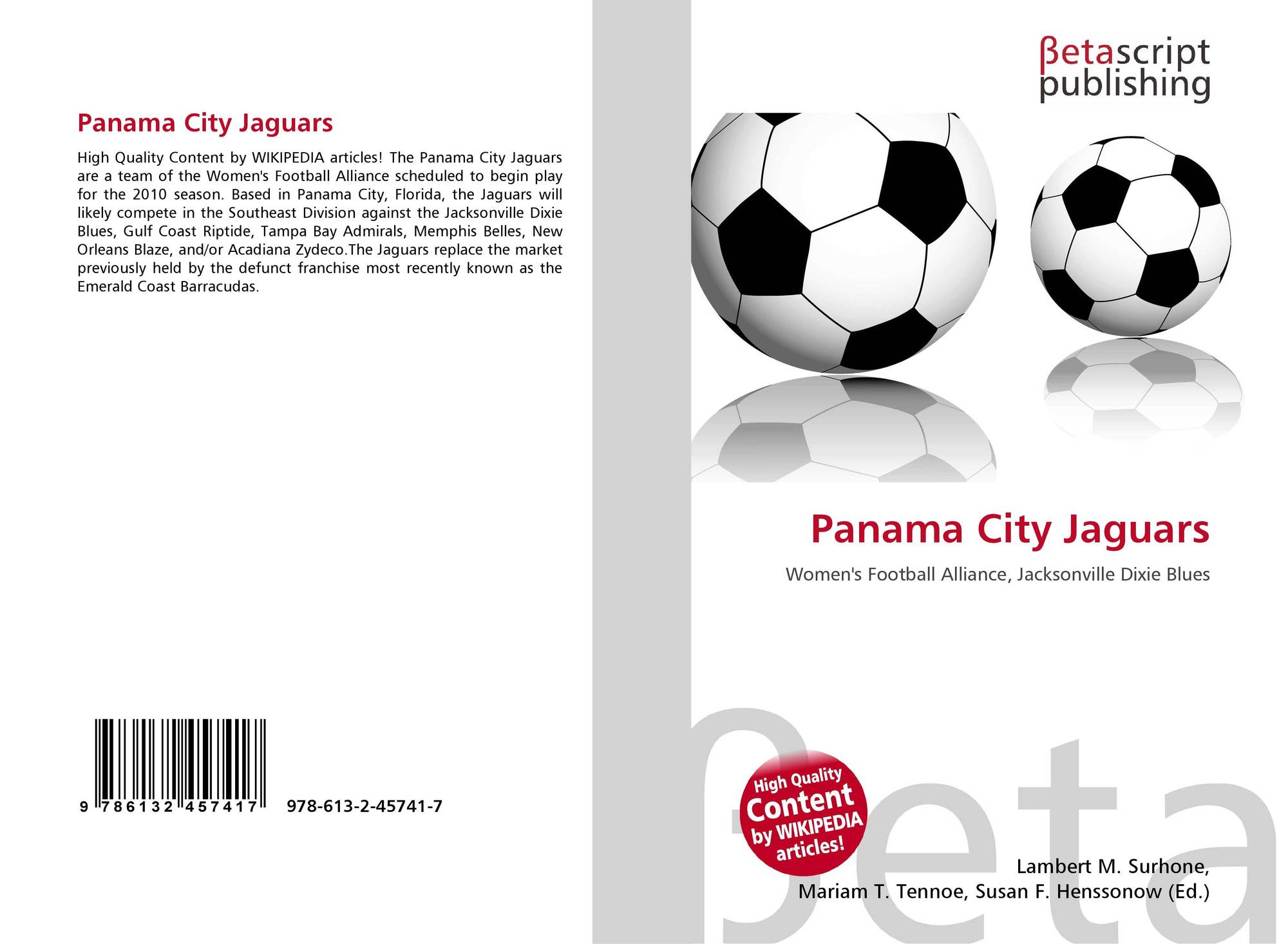 Panama City Jaguars 978 613 2 45741 7 6132457410 9786132457417