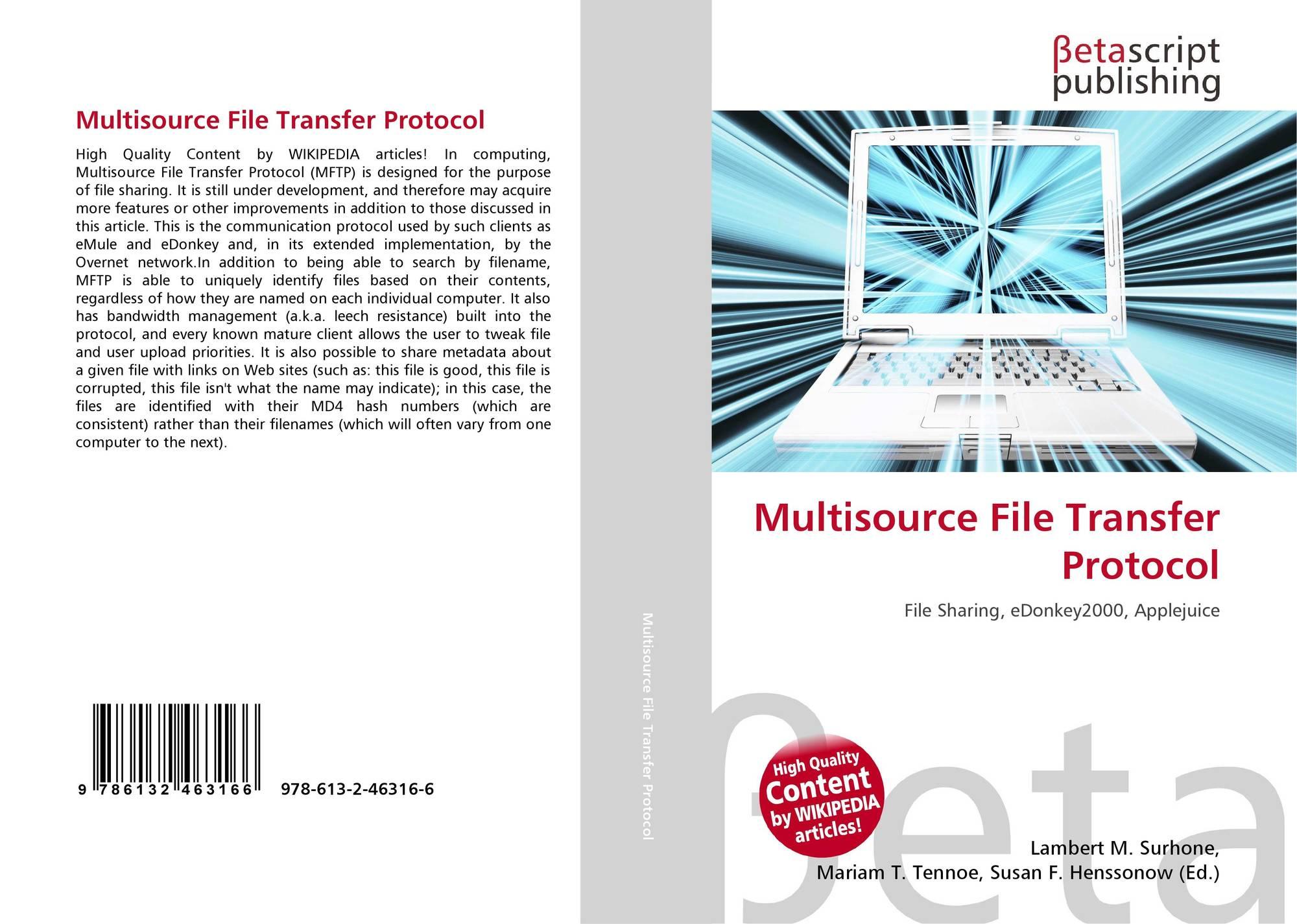 Bookcover of Multisource File Transfer Protocol