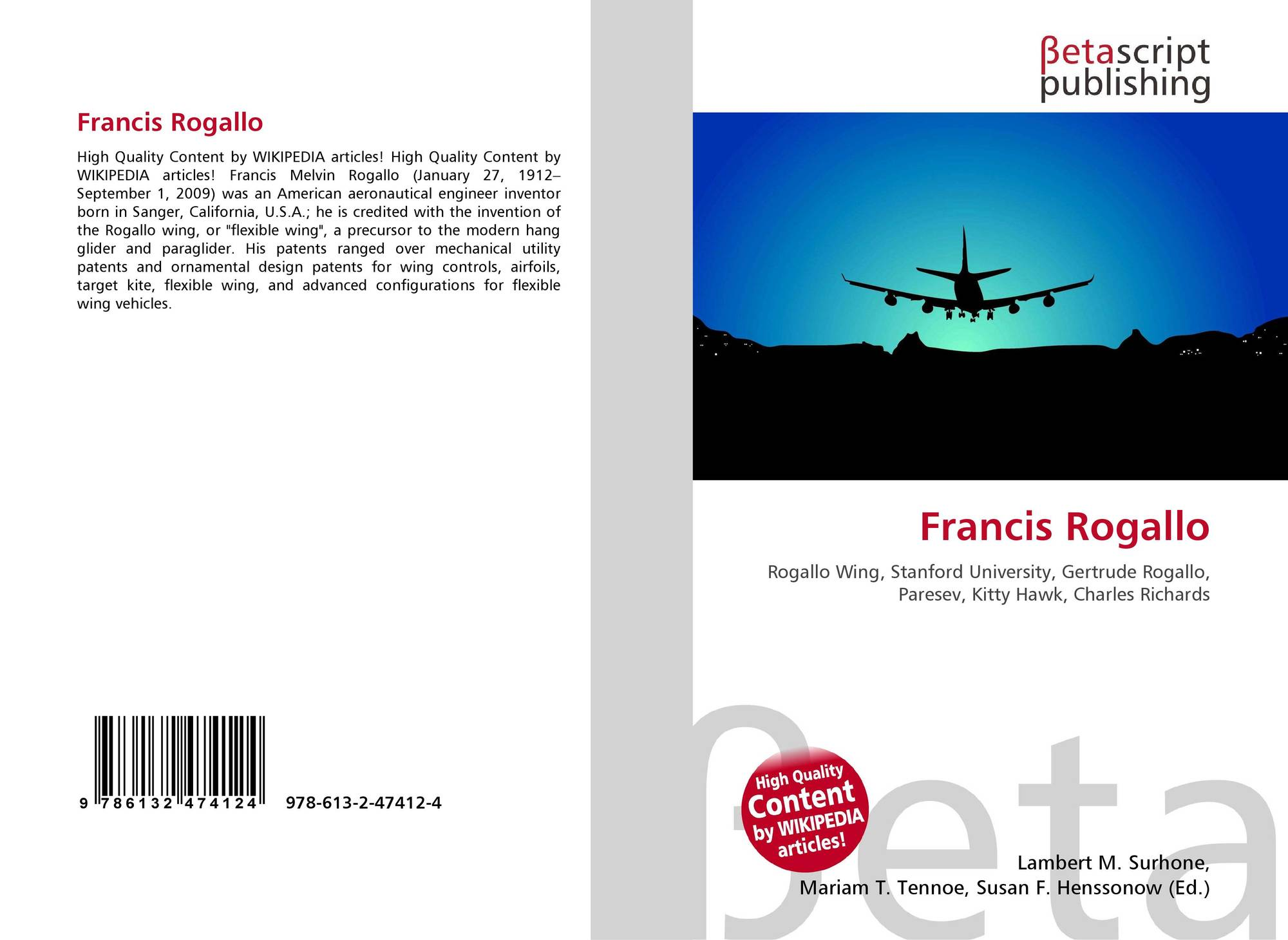 Francis Rogallo, 978-613-2-47412-4, 6132474129 ,9786132474124