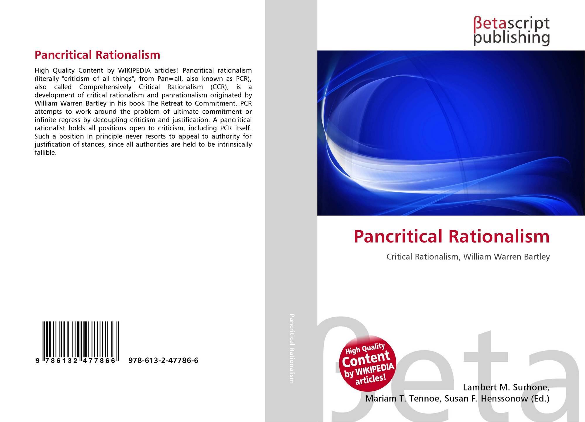 Pancritical Rationalism, 978-613-2-47786-6, 6132477861 ,9786132477866