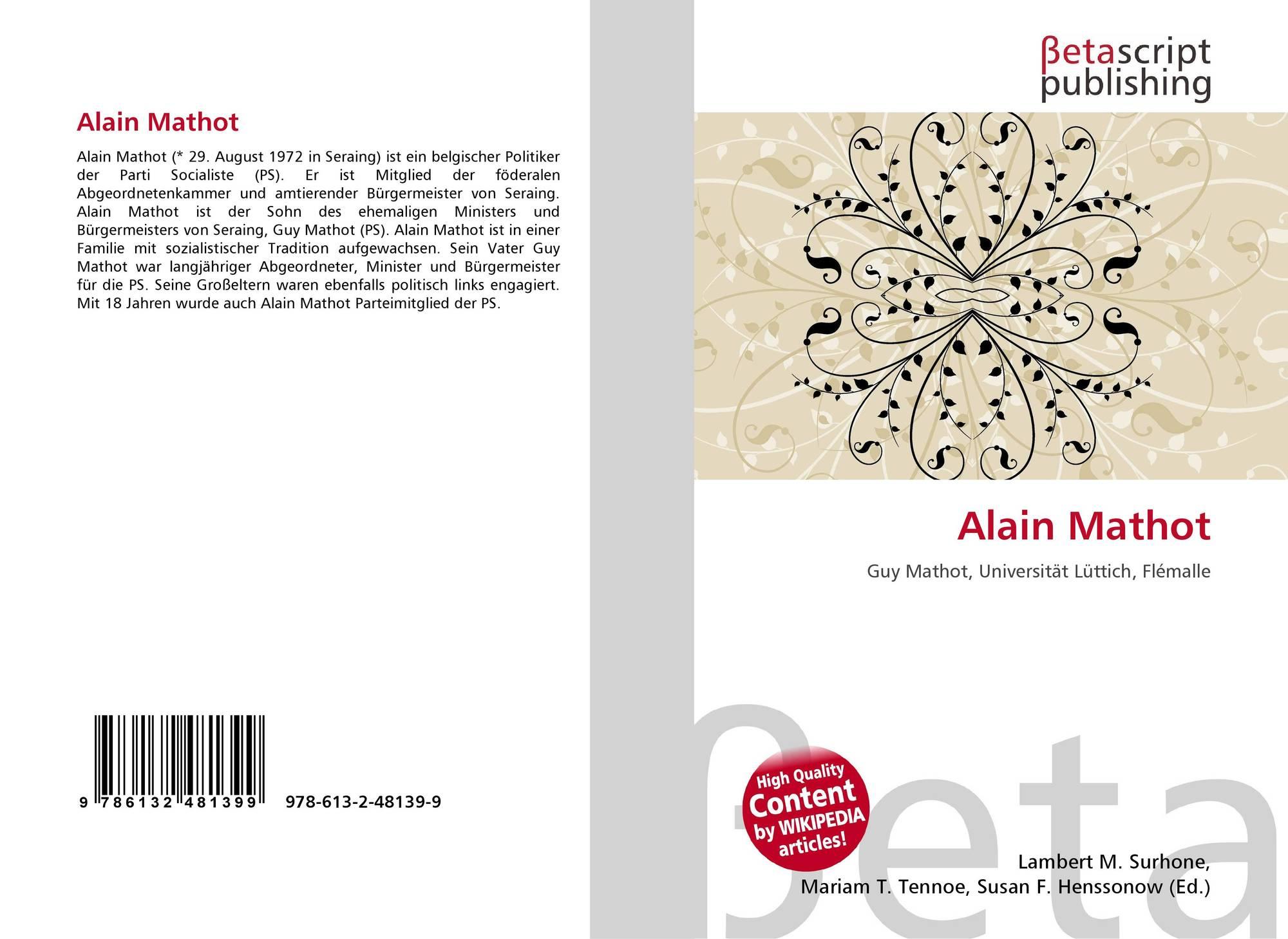 Bookcover Of Alain Mathot