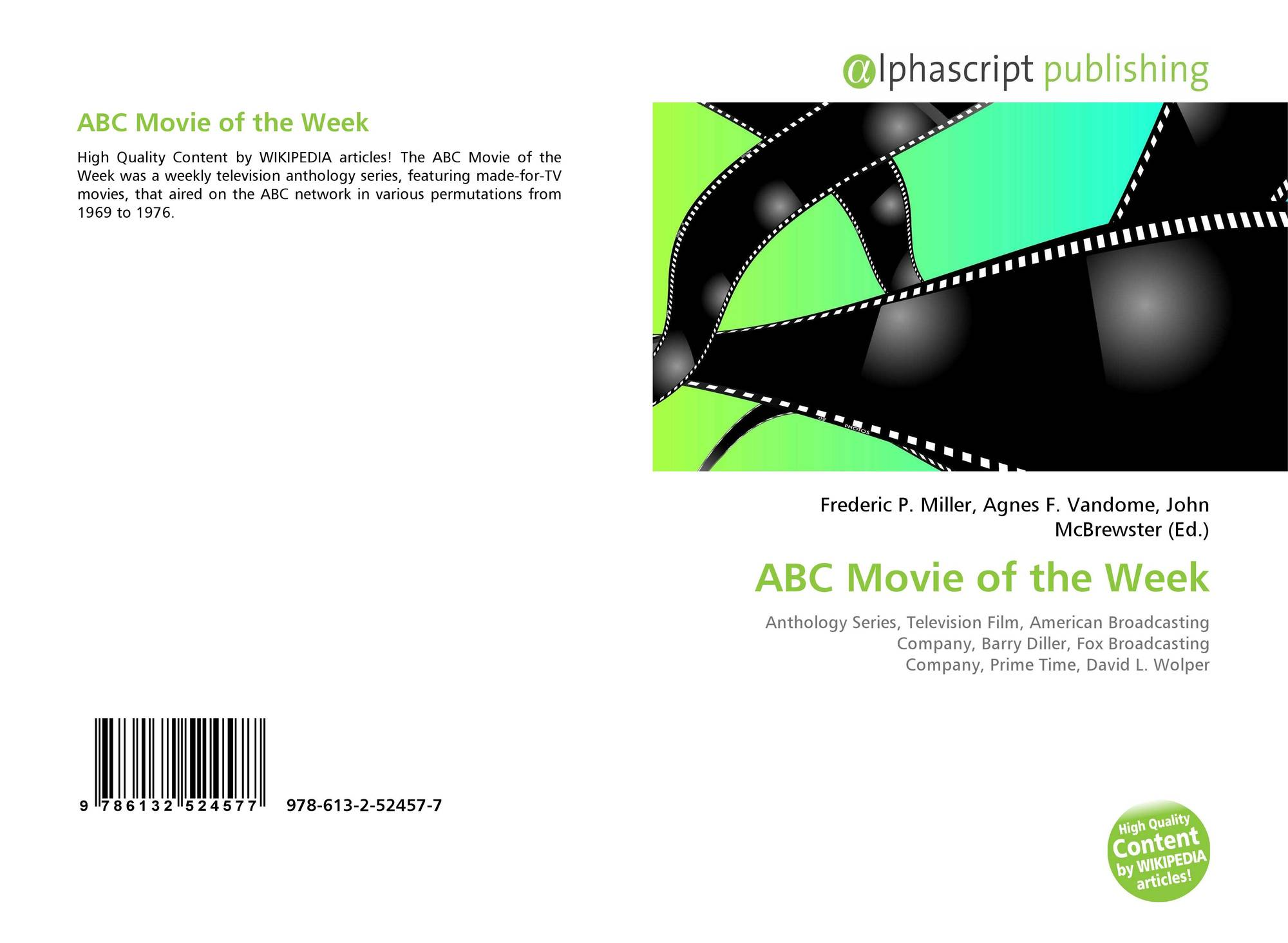 ABC Movie of the Week, 978-613-2-52457-7, 6132524576
