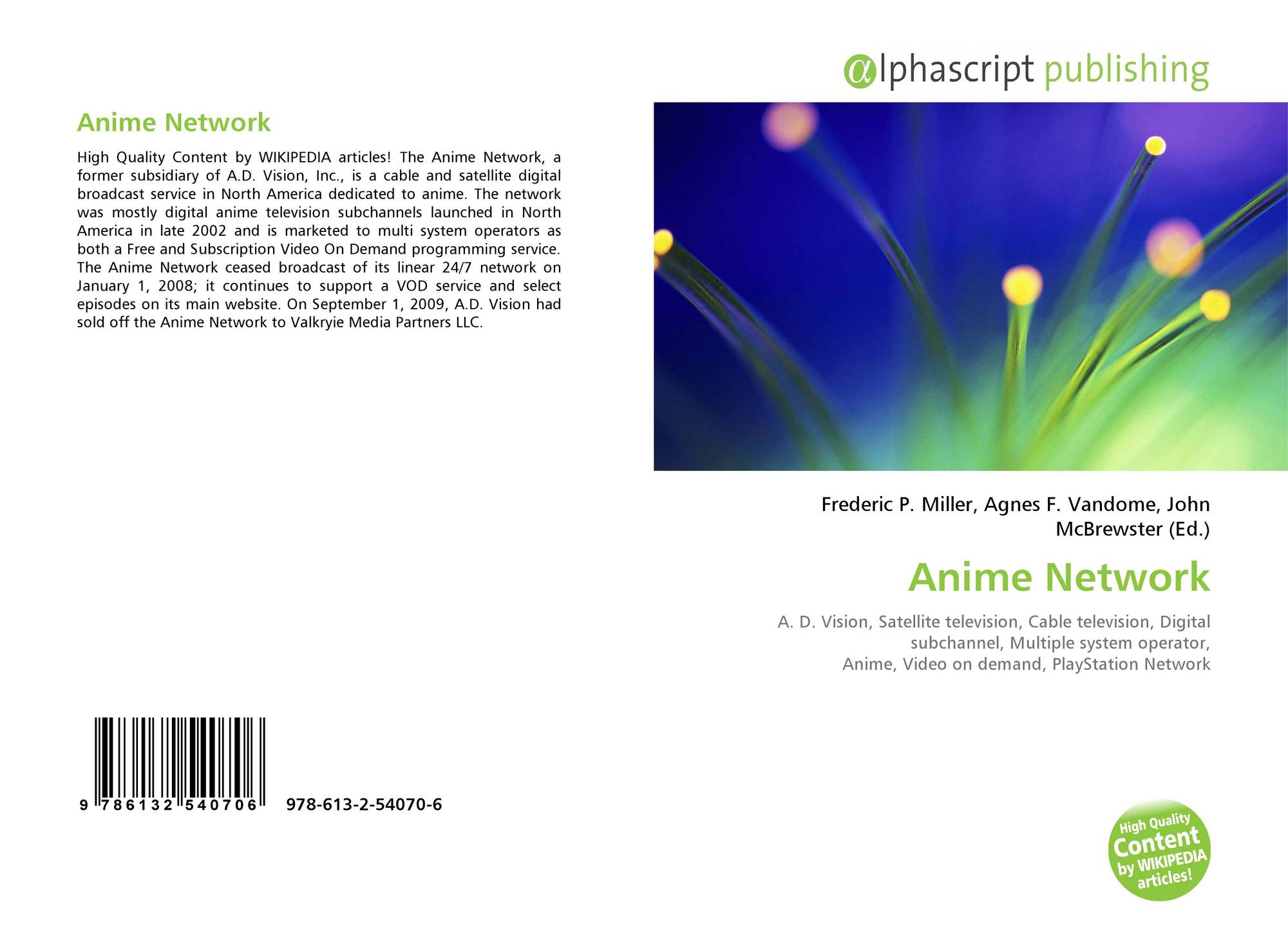 Bookcover of anime network