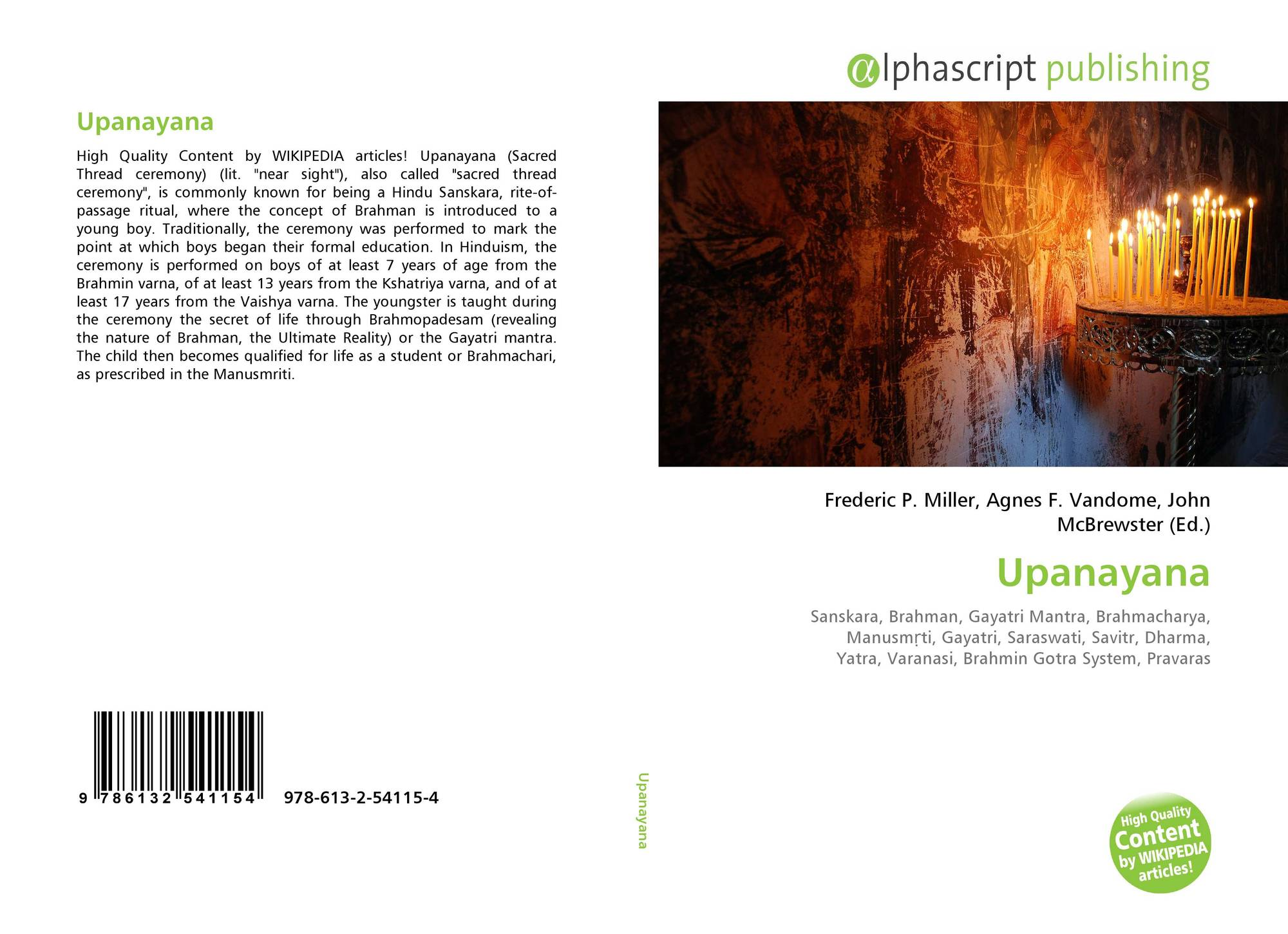 Upanayana, 978-613-2-54115-4, 6132541152 ,9786132541154
