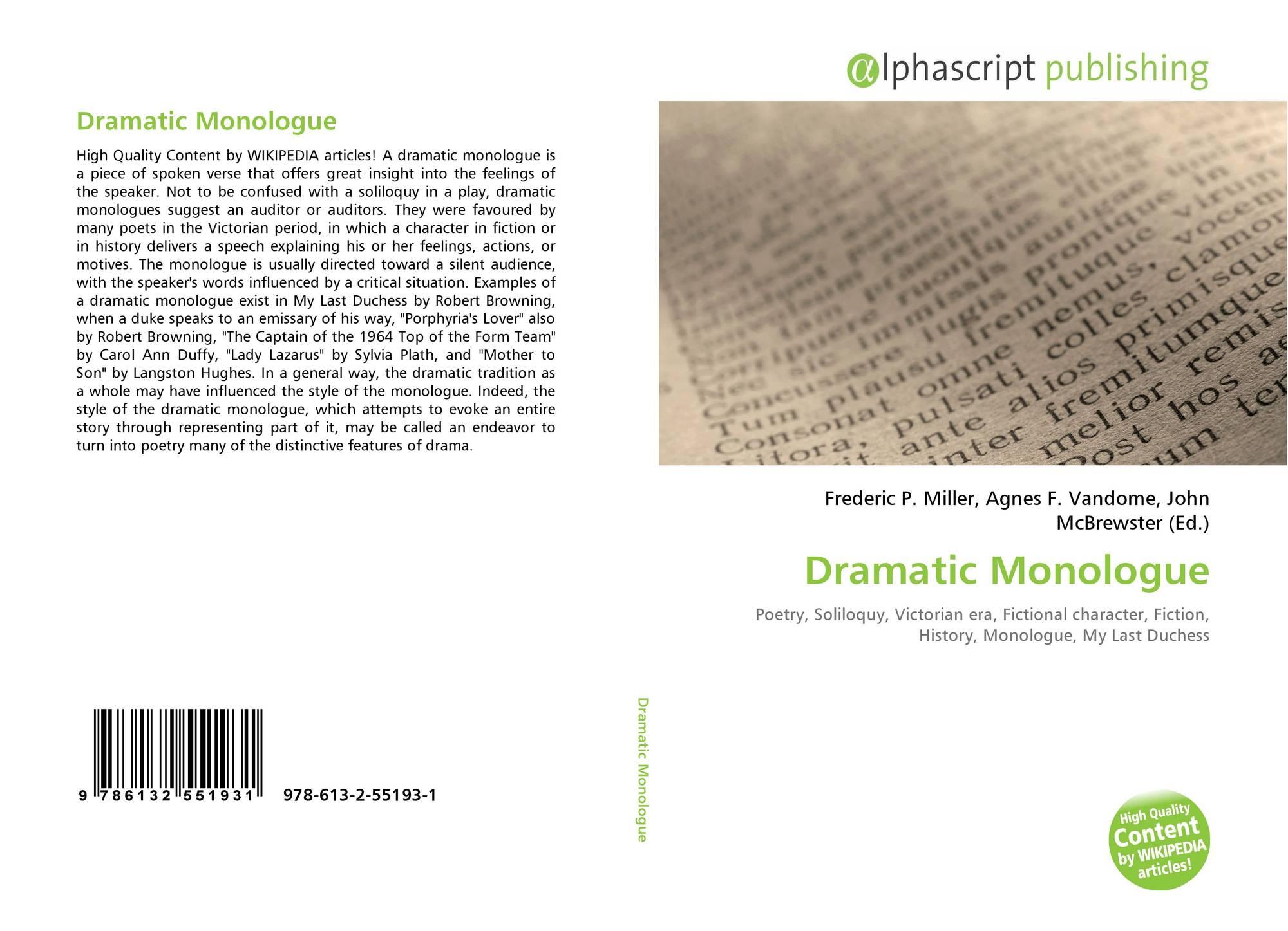 dramatic monologue draft