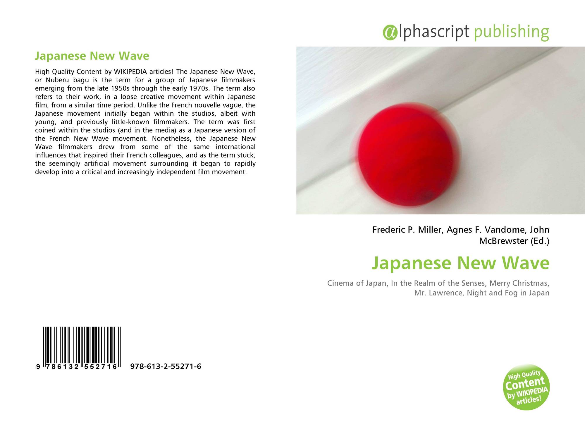 Japanese New Wave, 978-613-2-55271-6, 6132552715 ,9786132552716