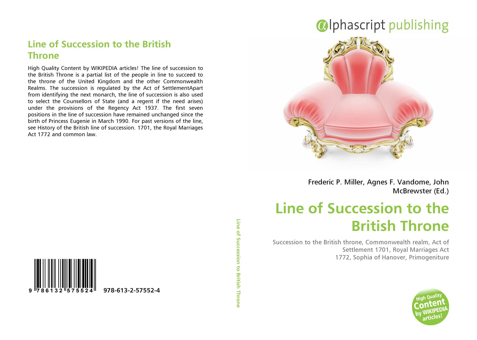 search results for succession to the british throne bookcover of line of succession to the british throne