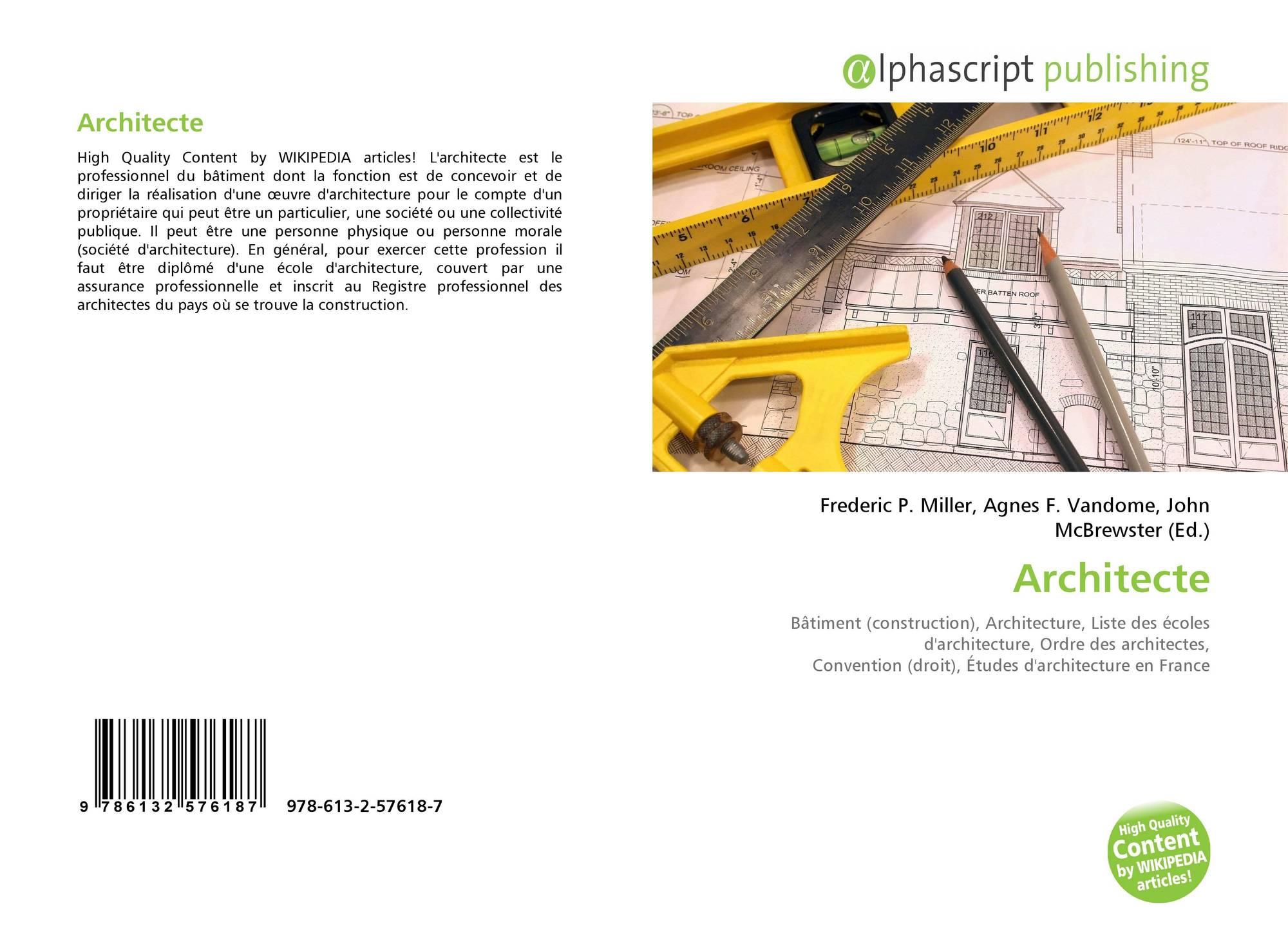Liste Ordre Des Architectes architecte, 978-613-2-57618-7, 6132576185 ,9786132576187