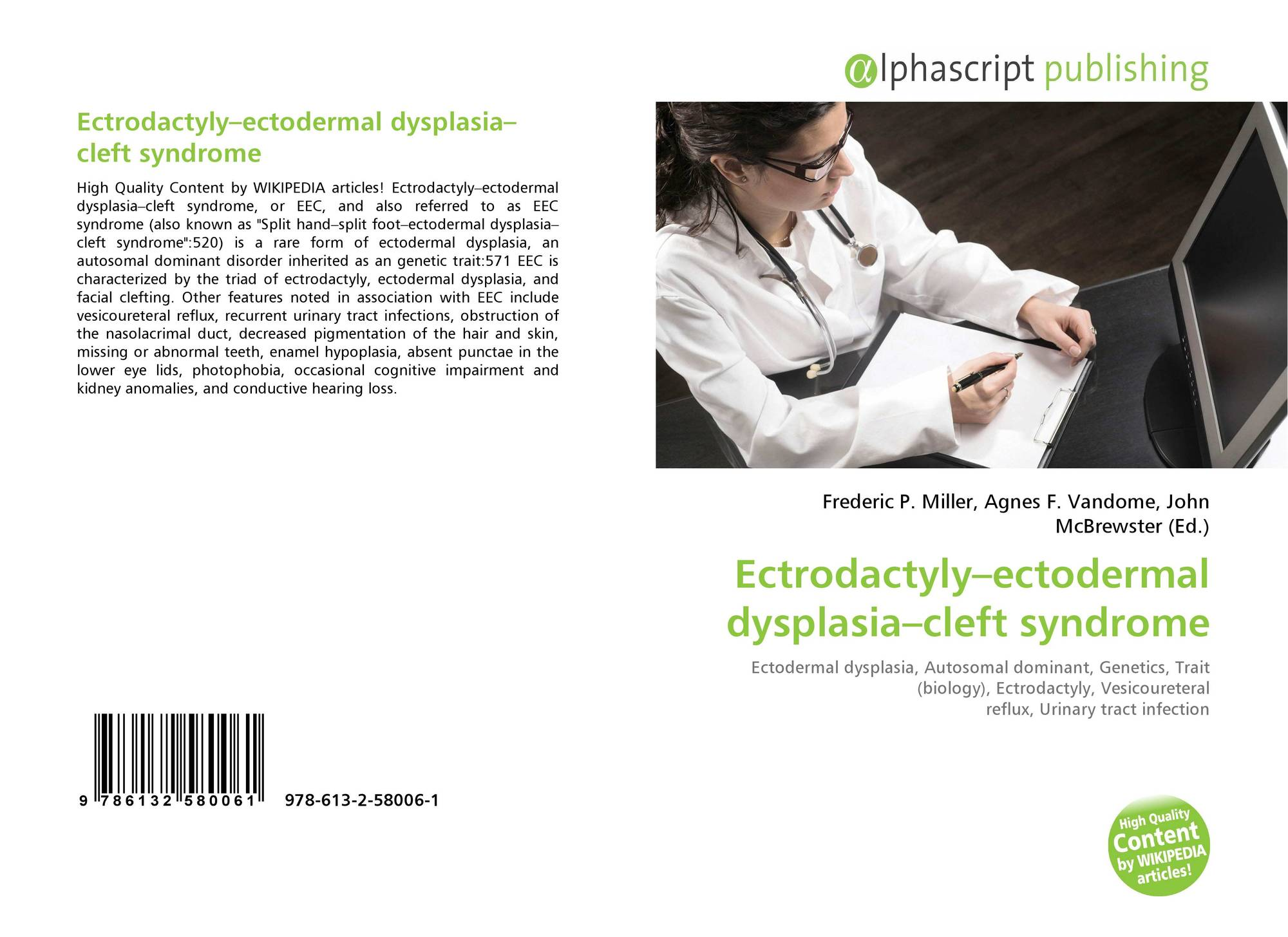 Ectrodactyly–ectodermal dysplasia–cleft syndrome, 978-613-2