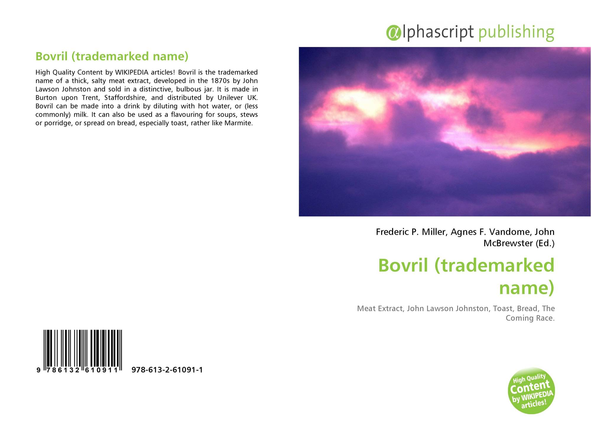 Bovril (trademarked name), 978-613-2