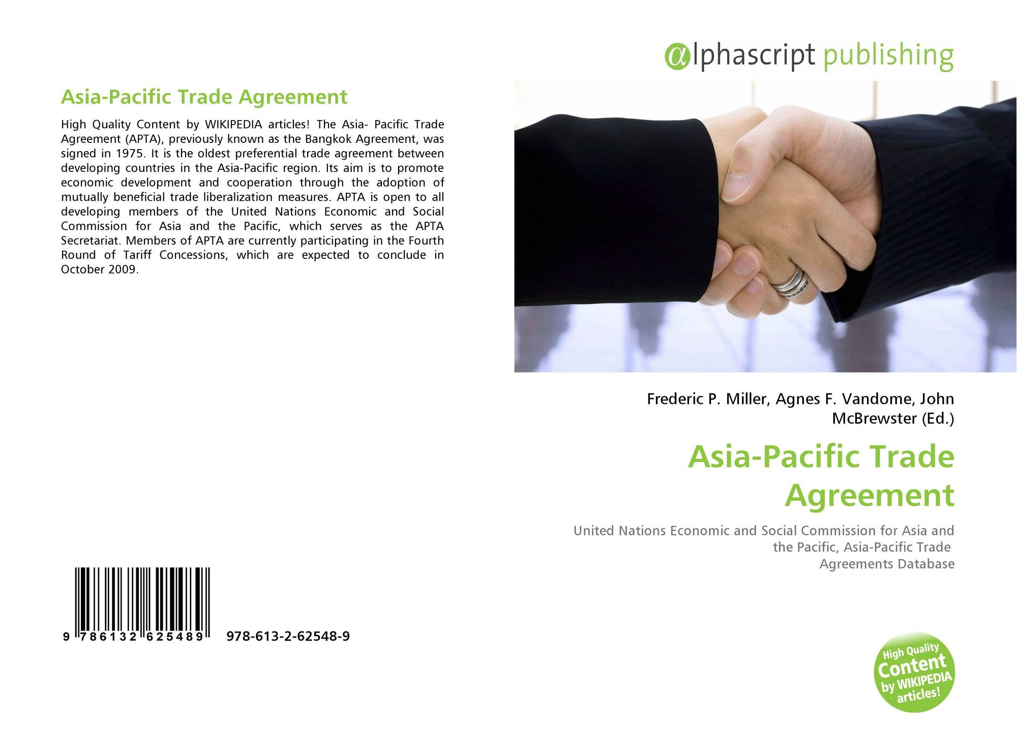 Asia Pacific Trade Agreement 978 613 2 62548 9 6132625488