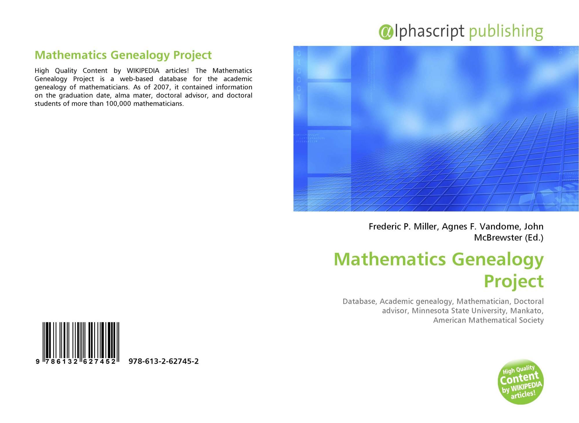 math genealogy project