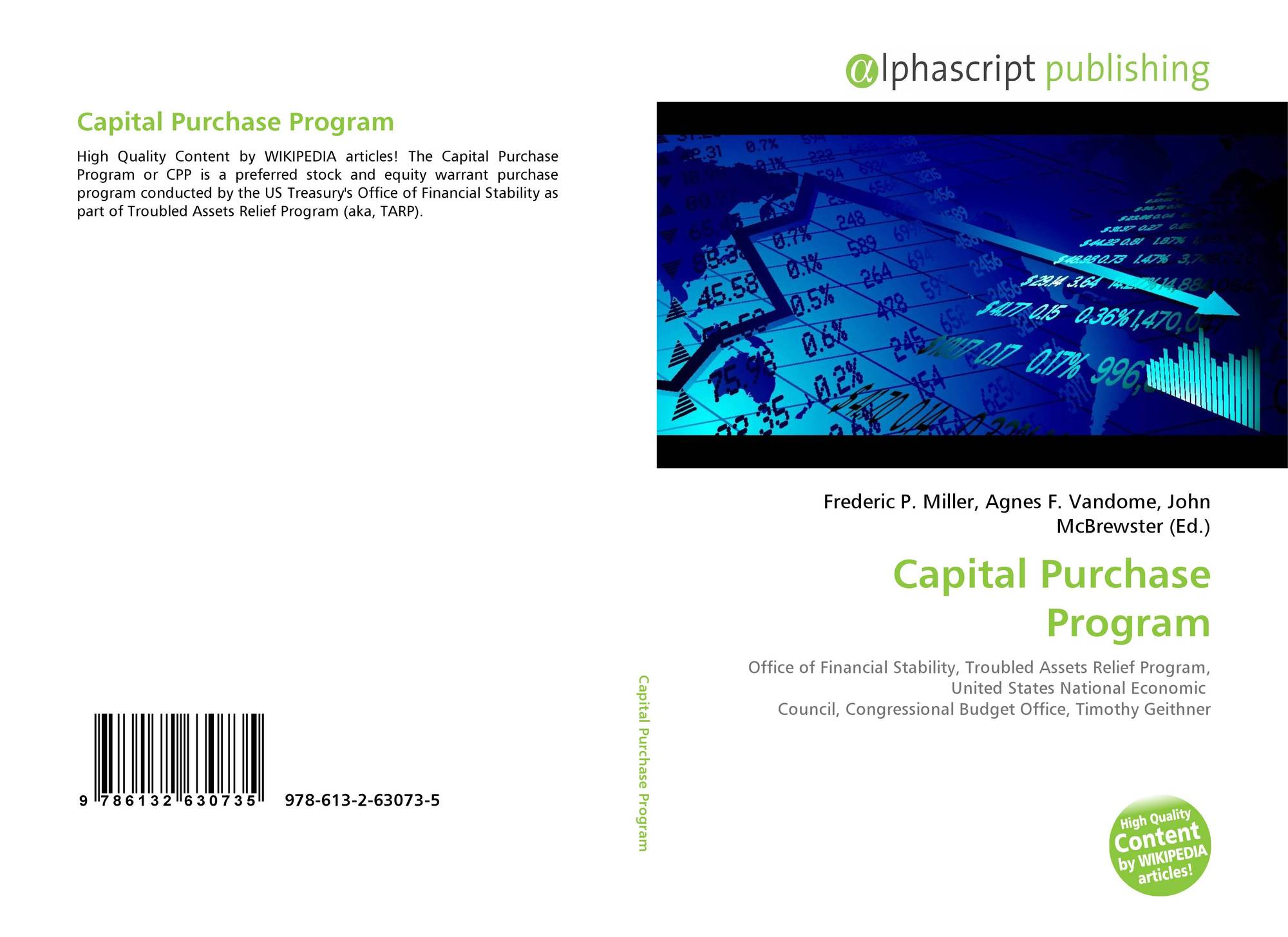 capital purchase When the purpose of the article purchase serve more than one year, the purchase is called capital purchase (eg asset purchase) and if the purpose of the article serve immediately or its.