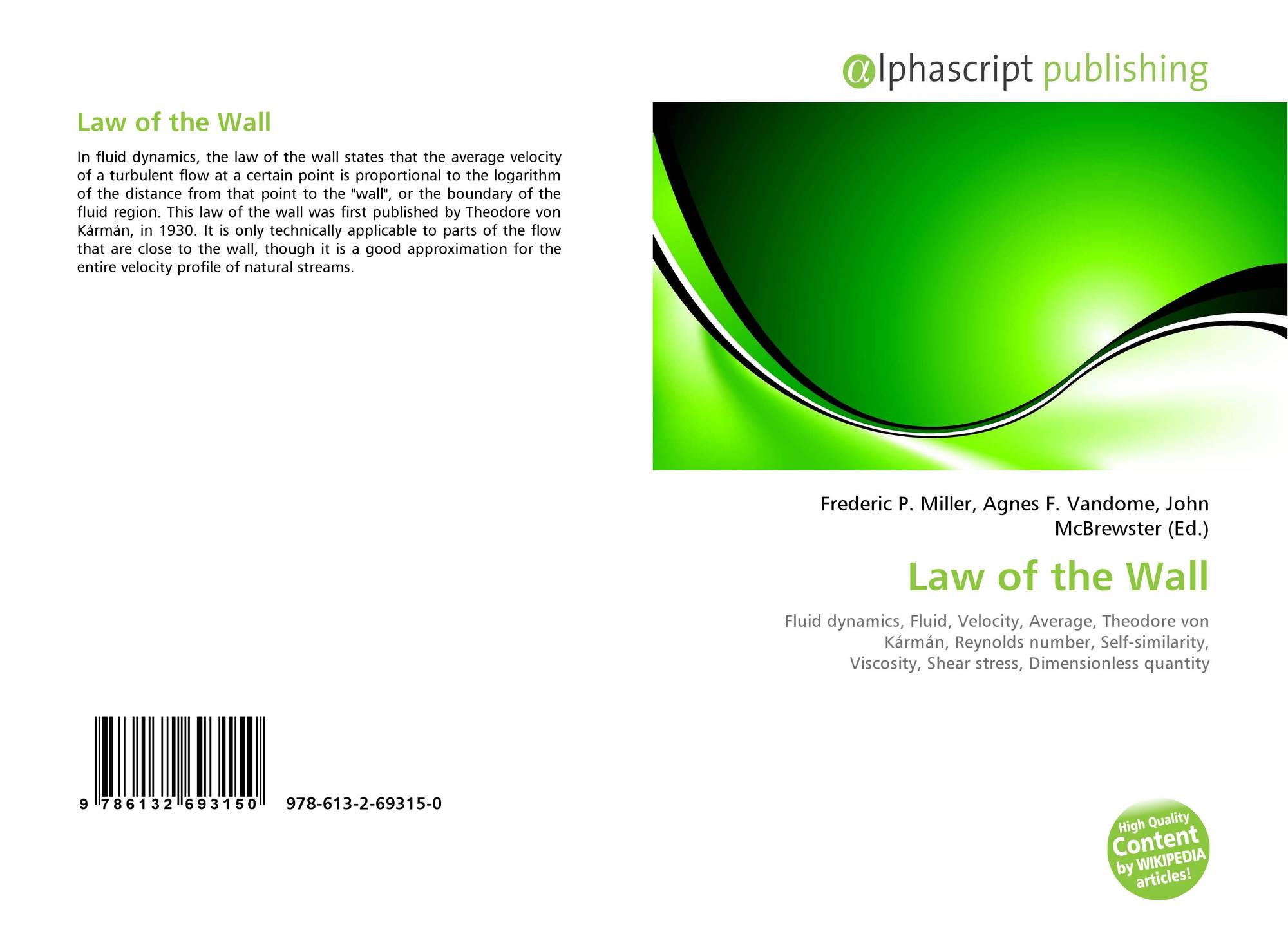 Law of the Wall, 978-613-2-69315-0, 6132693157 ,9786132693150
