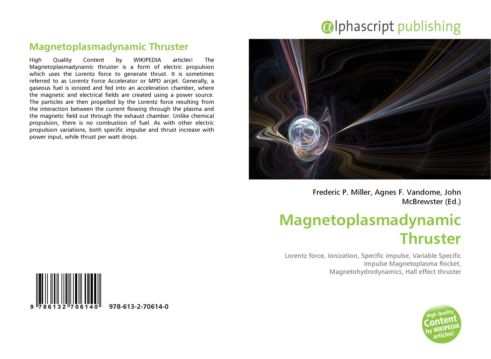 Magnetoplasmadynamic Thruster, 978-613-2-70614-0, 6132706143