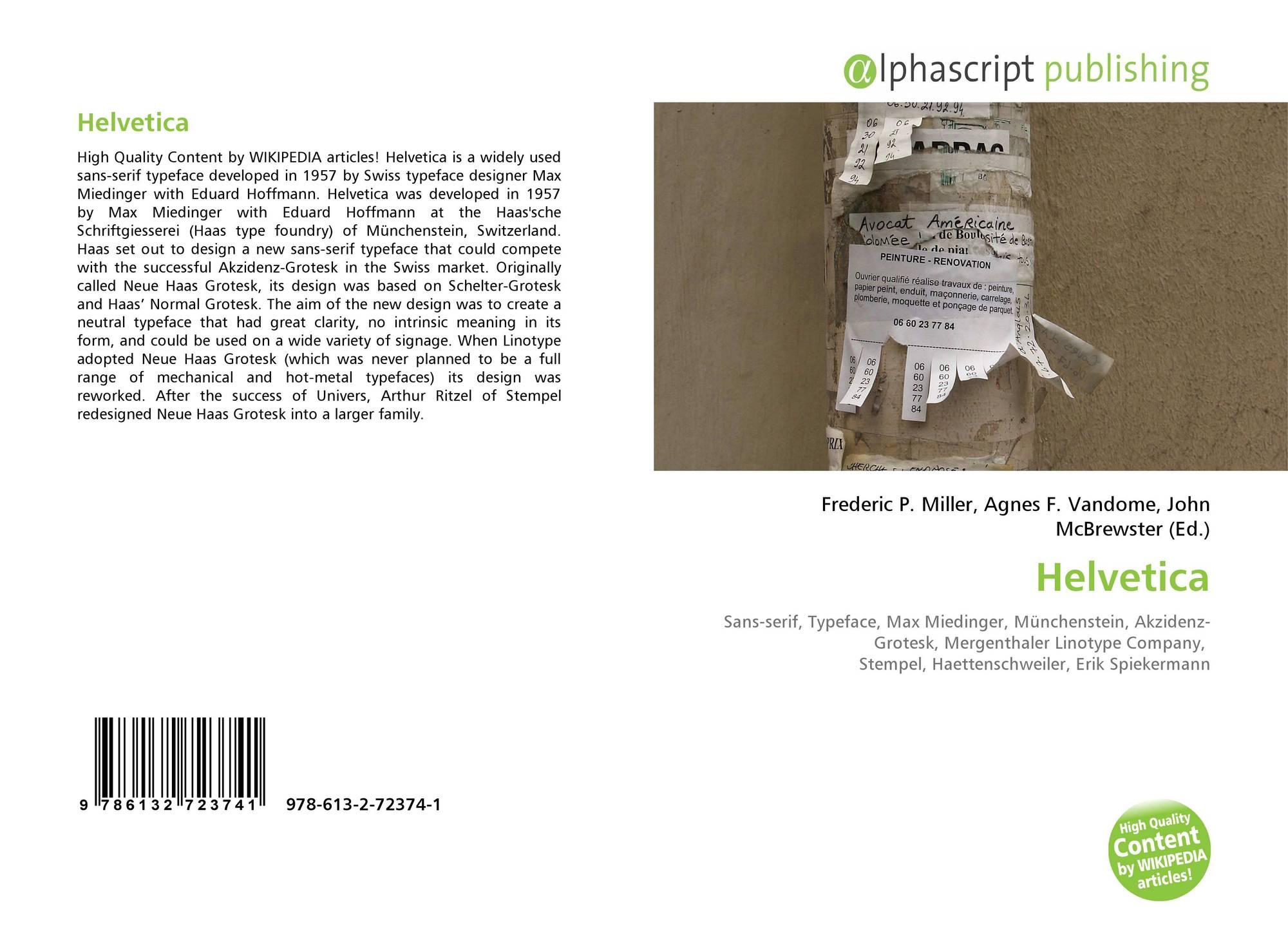 Helvetica, 978-613-2-72374-1, 6132723749 ,9786132723741