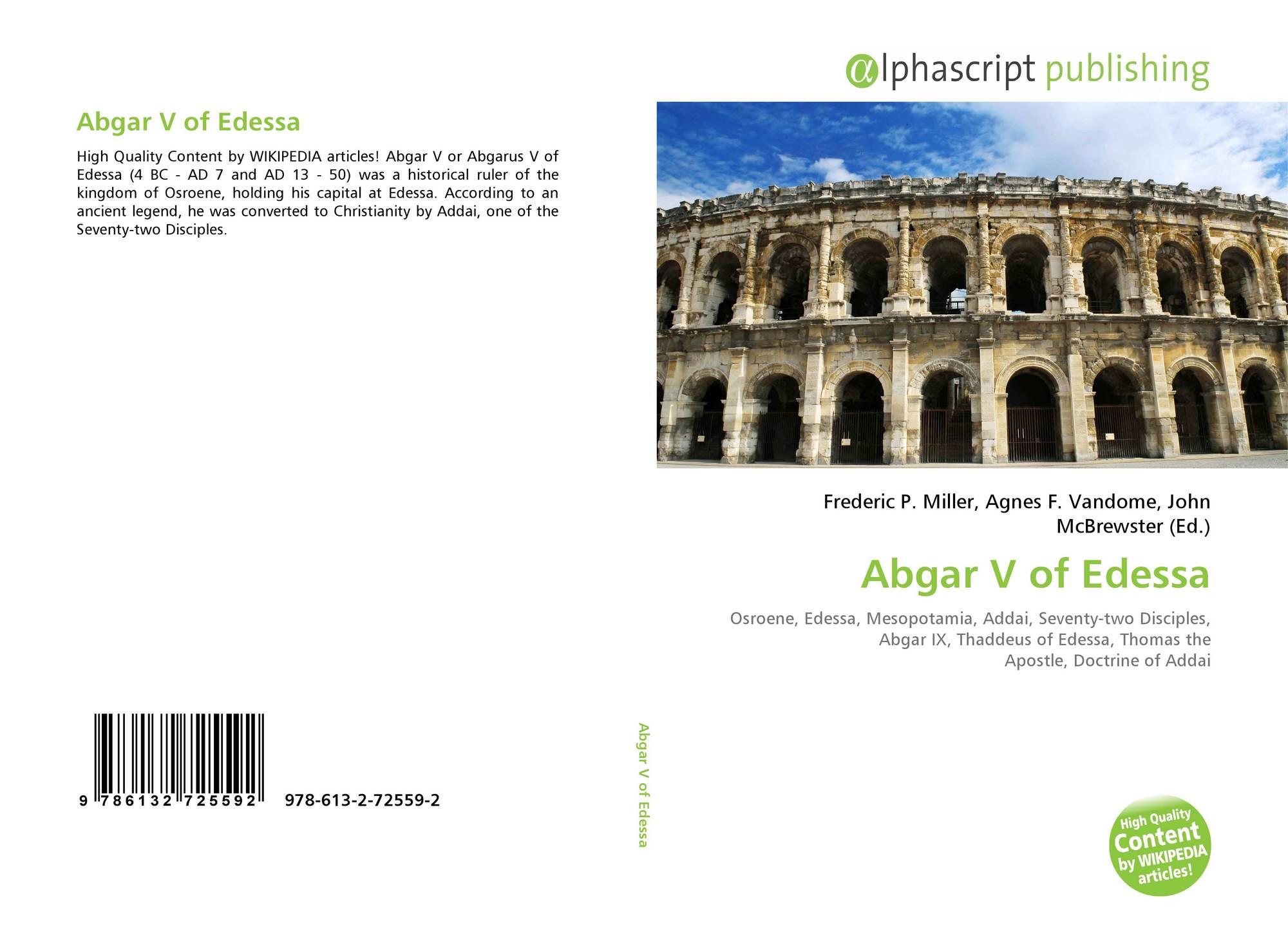Abgar V of Edessa, 978-613-2-72559-2, 6132725598 ,9786132725592