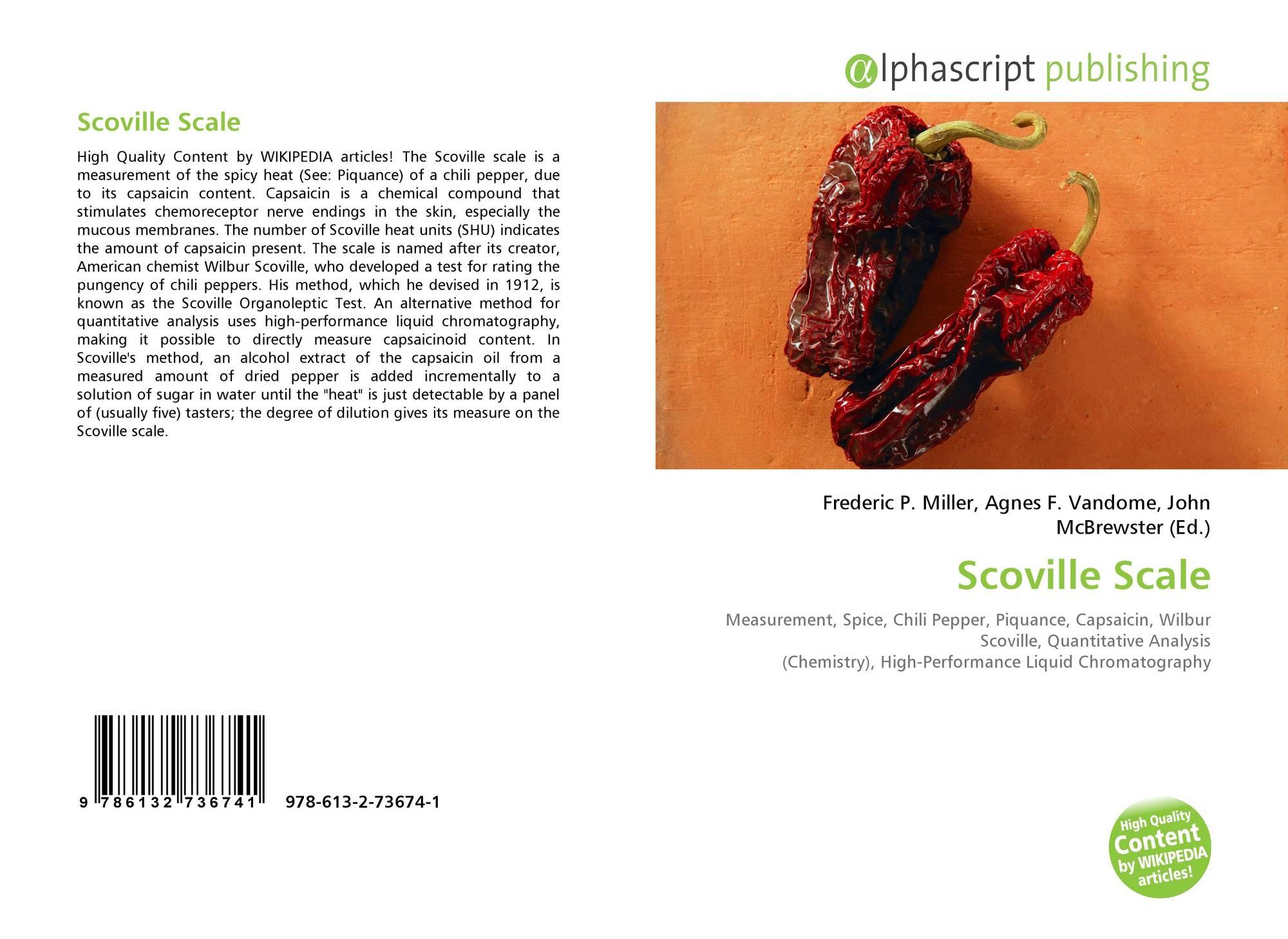 Scoville Scale, 978-613-2-73674-1, 6132736743 ,9786132736741