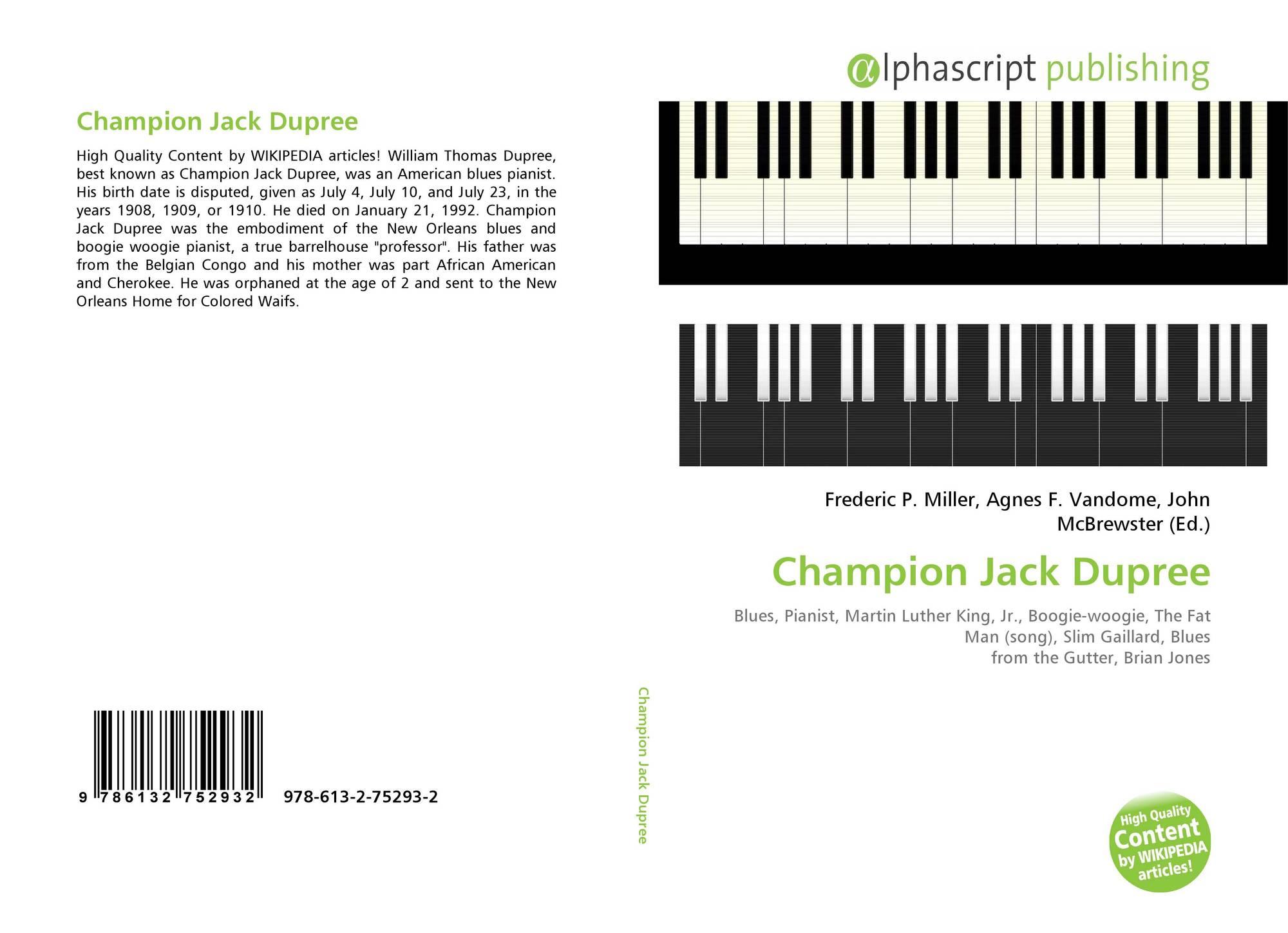 wiki champion jack dupree
