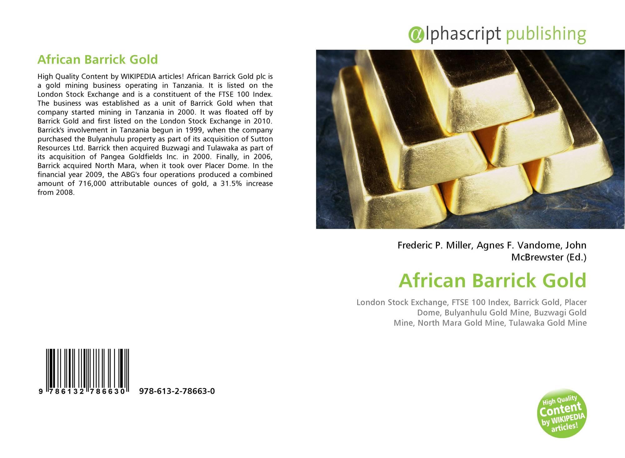 African Barrick Gold, 978-613-2-78663-0, 6132786635
