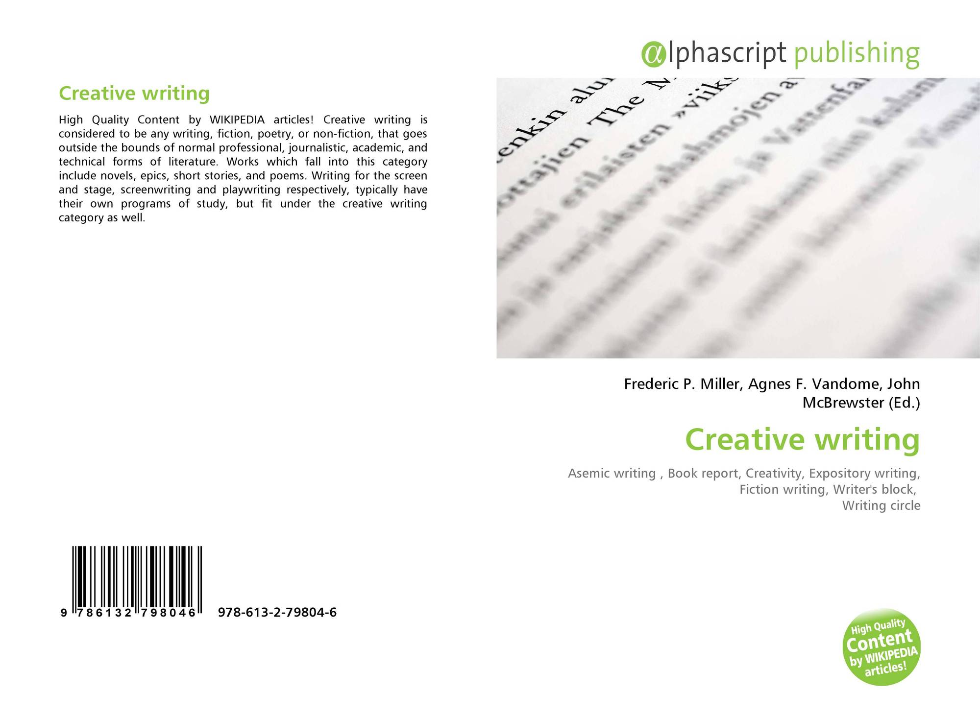 Creative writing pedagogy journal