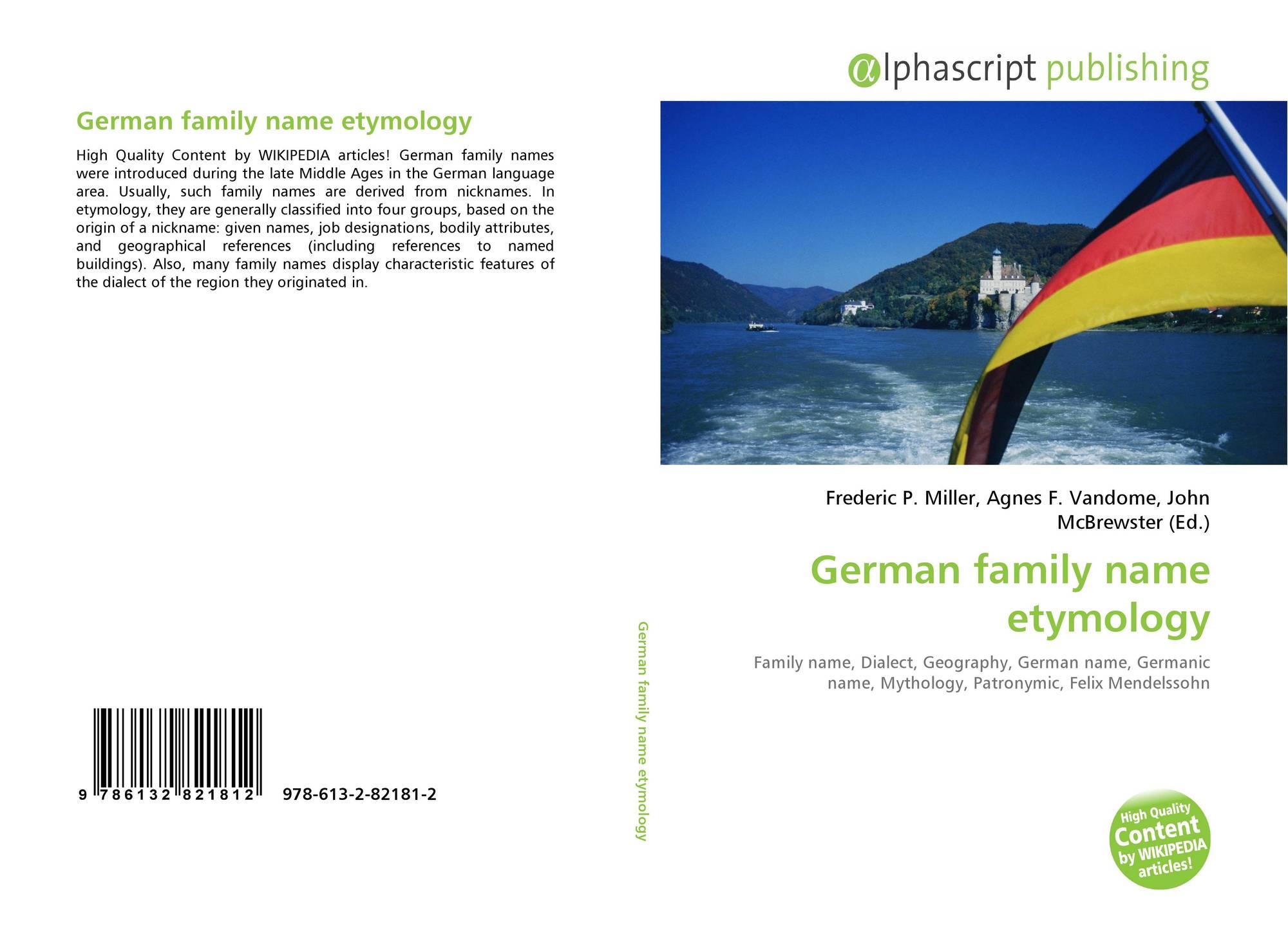 German family name etymology, 978-613-2-82181-2, 6132821813