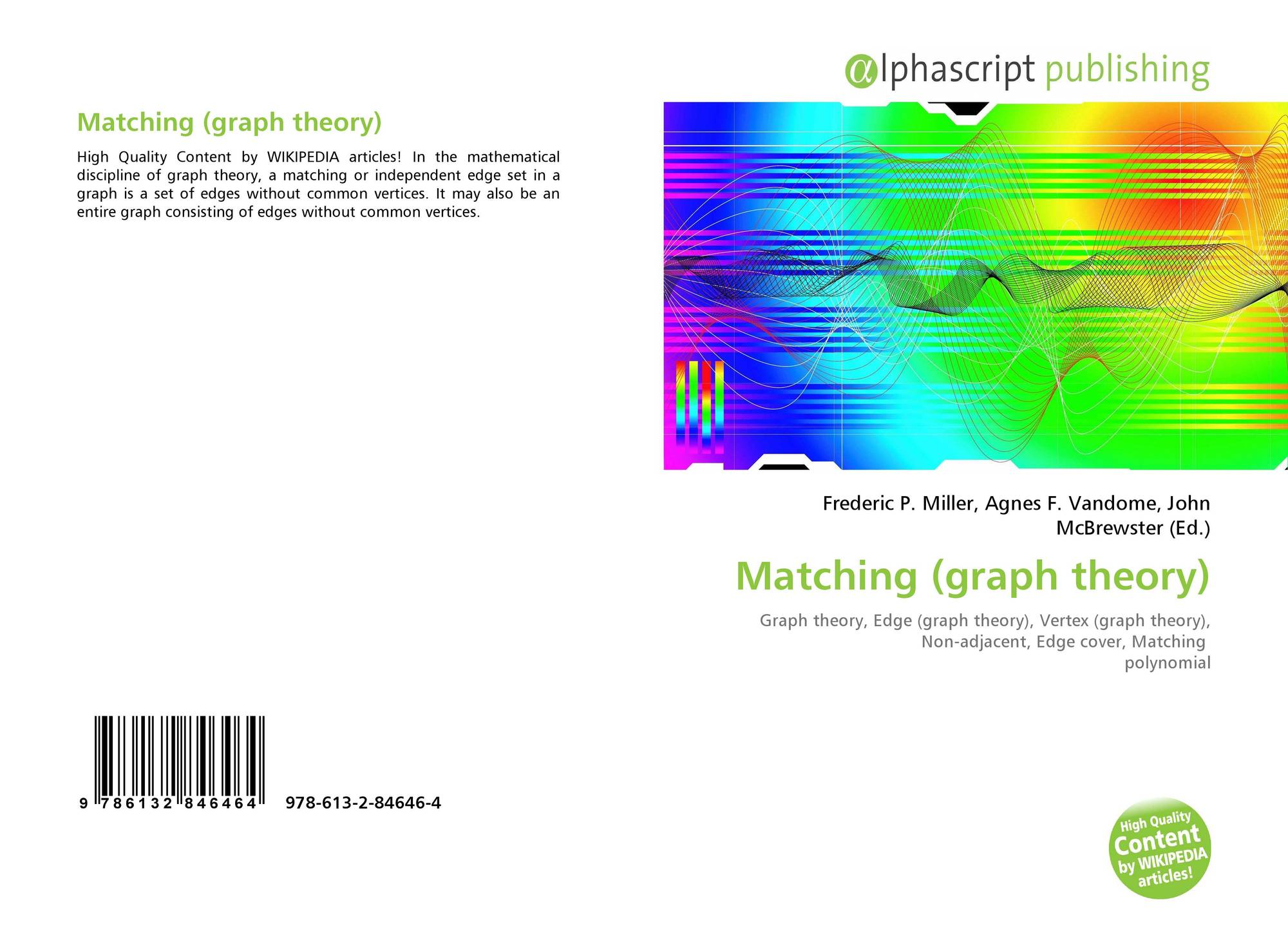 Bookcover of Matching (graph theory)