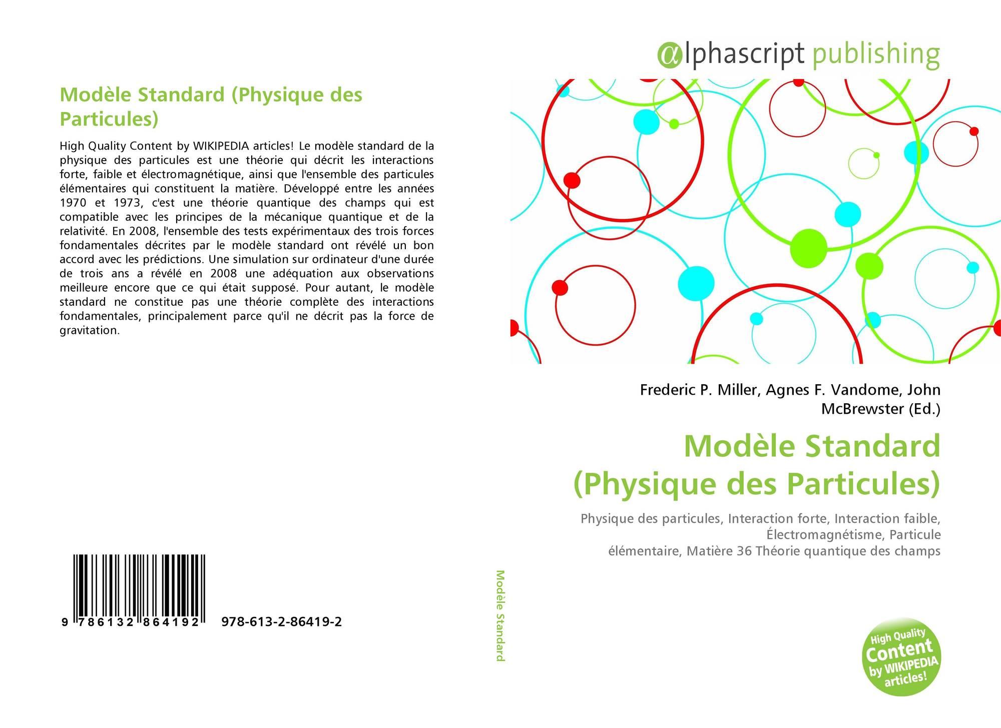 Modele Standard Physique Des Particules 978 613 2 86419 2 6132864199 9786132864192
