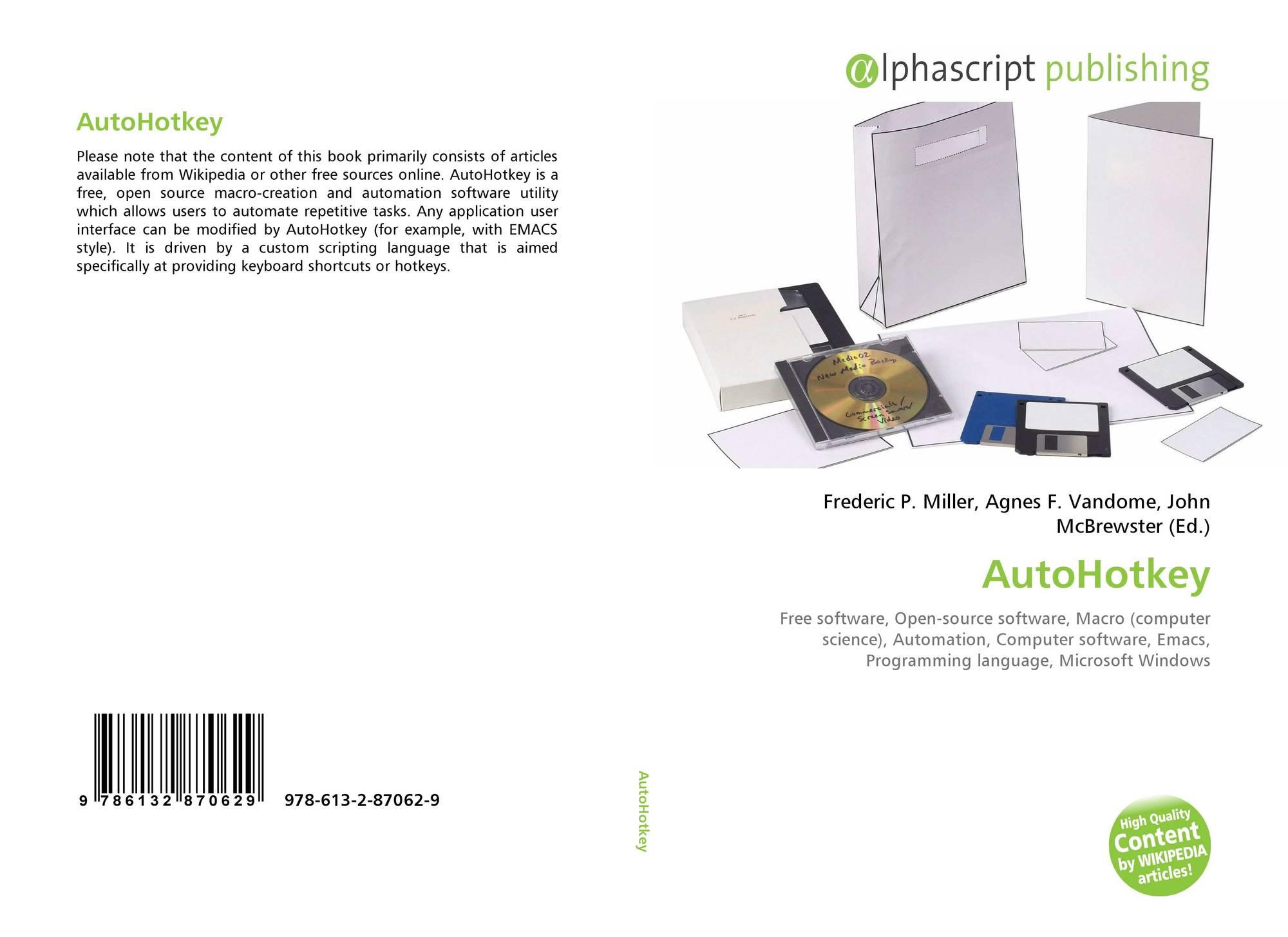 AutoHotkey, 978-613-2-87062-9, 6132870628 ,9786132870629