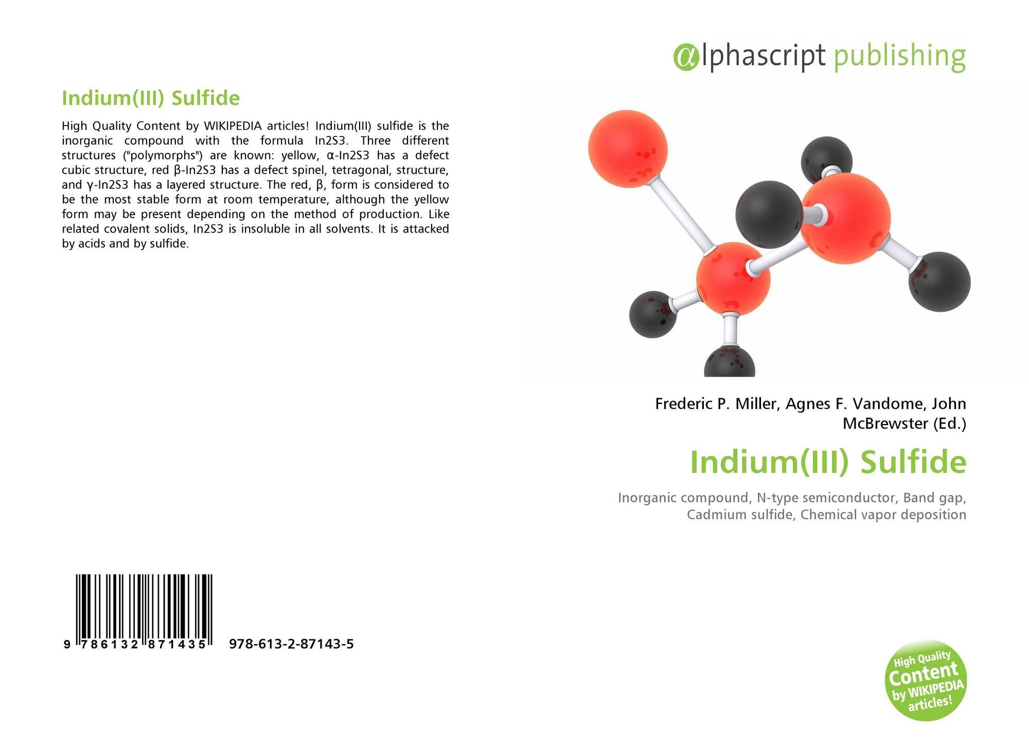 Indium Iii Sulfide 978 613 2 87143 5