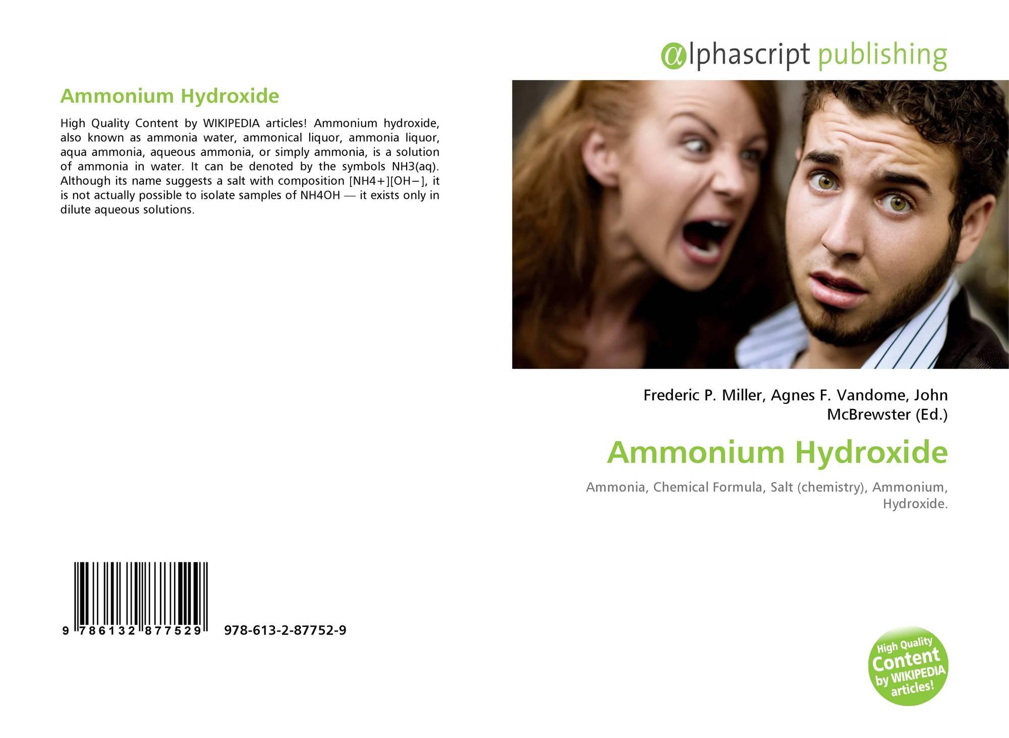 Ammonium Hydroxide 978 613 2 87752 9 6132877525 9786132877529
