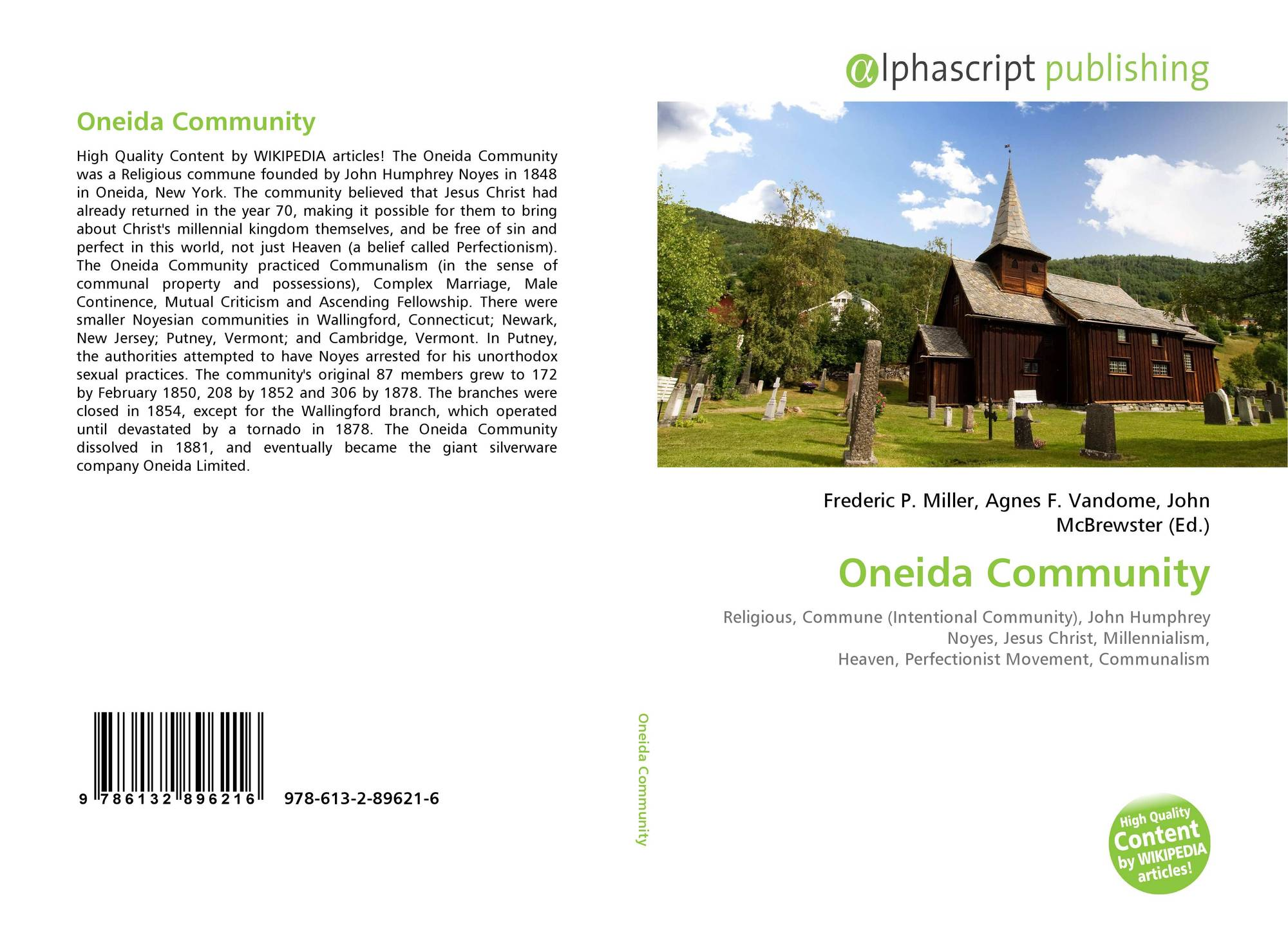 the oneida community essay