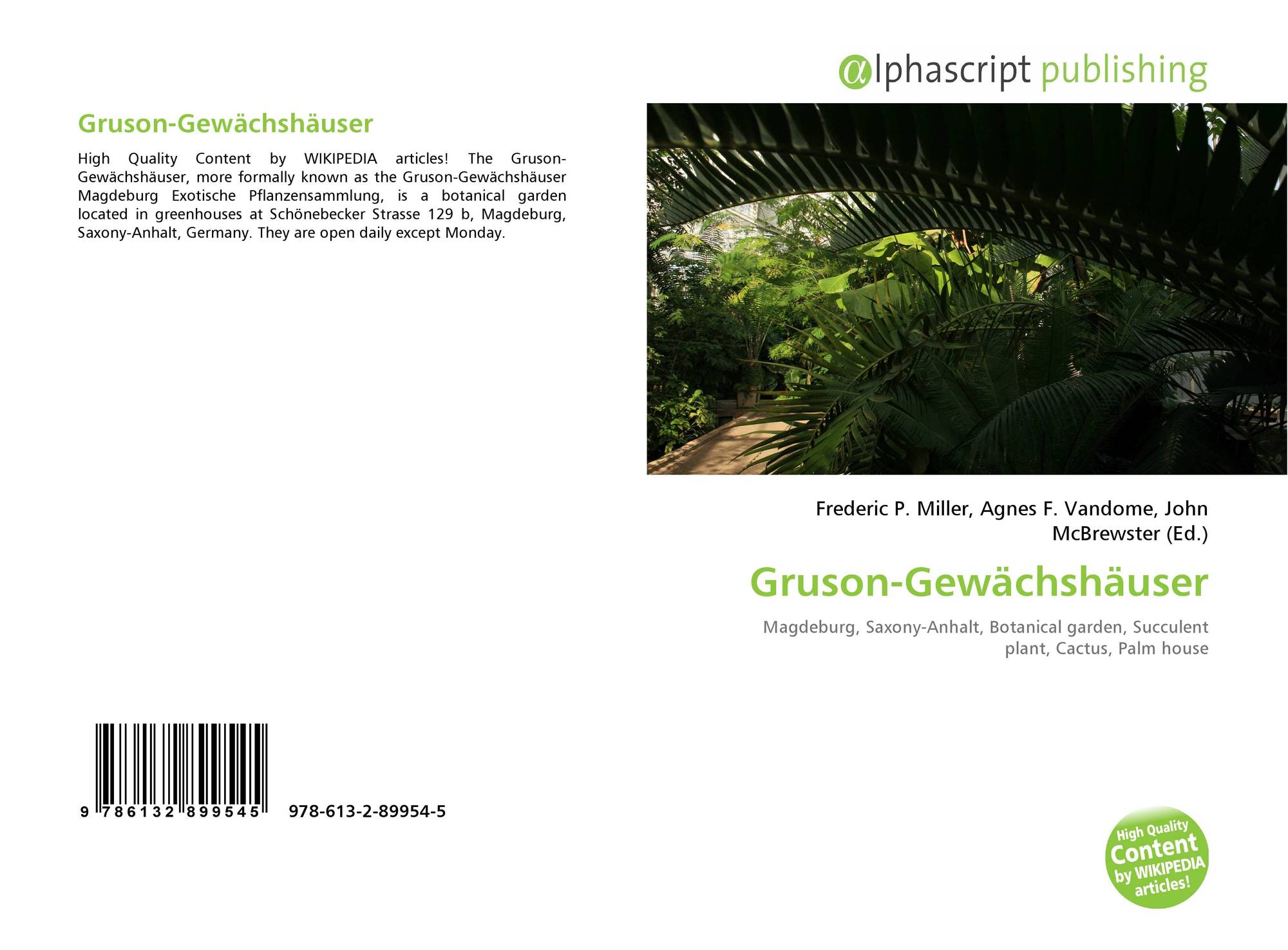 Gruson Gewachshauser 978 613 2 89954 5 6132899545 9786132899545