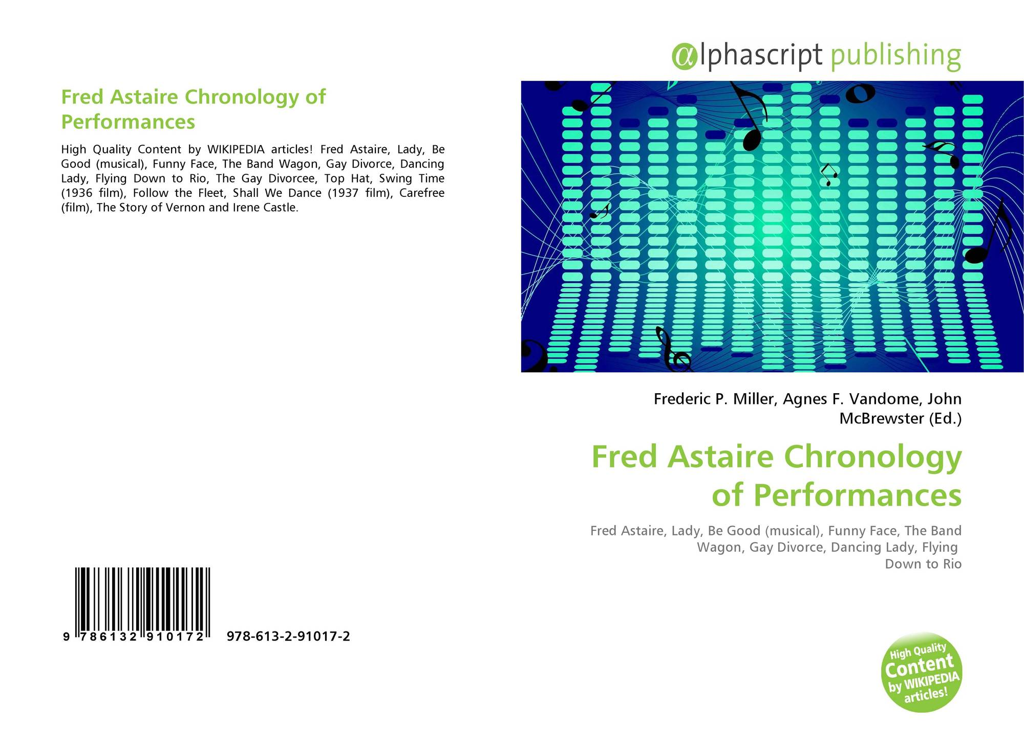 Fred Astaire Chronology of Performances, 978-613-2-91017-2