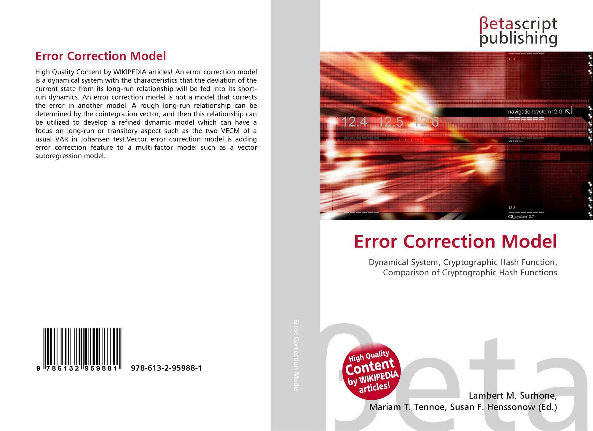 Error Correction Model, 978-613-2-95988-1, 6132959882
