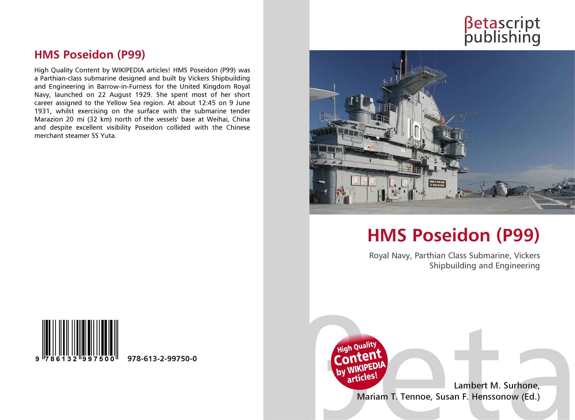 HMS Poseidon (P99), 978-613-2-99750-0, 6132997504 ,9786132997500