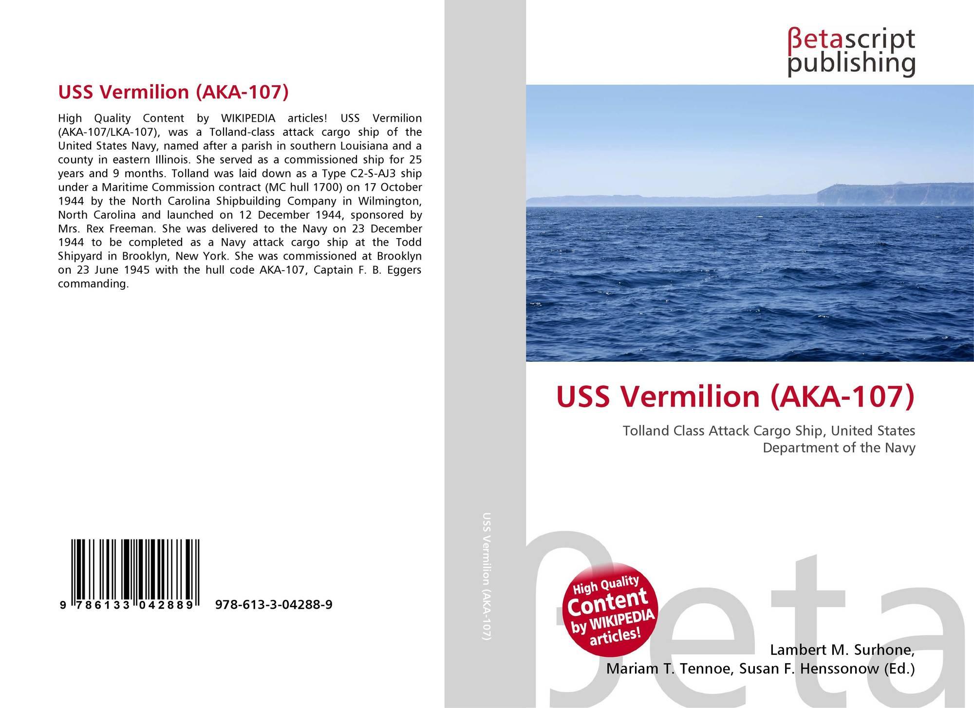 Illinois vermilion county muncie - Bookcover Of Uss Vermilion Aka 107