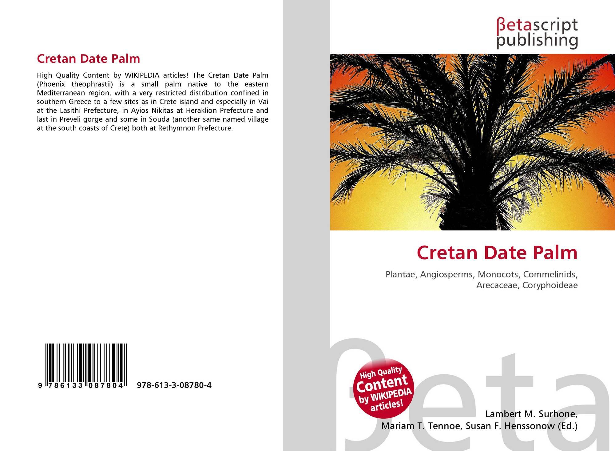 Cretan Date Palm, 978-613-3-08780-4, 6133087803 ,9786133087804
