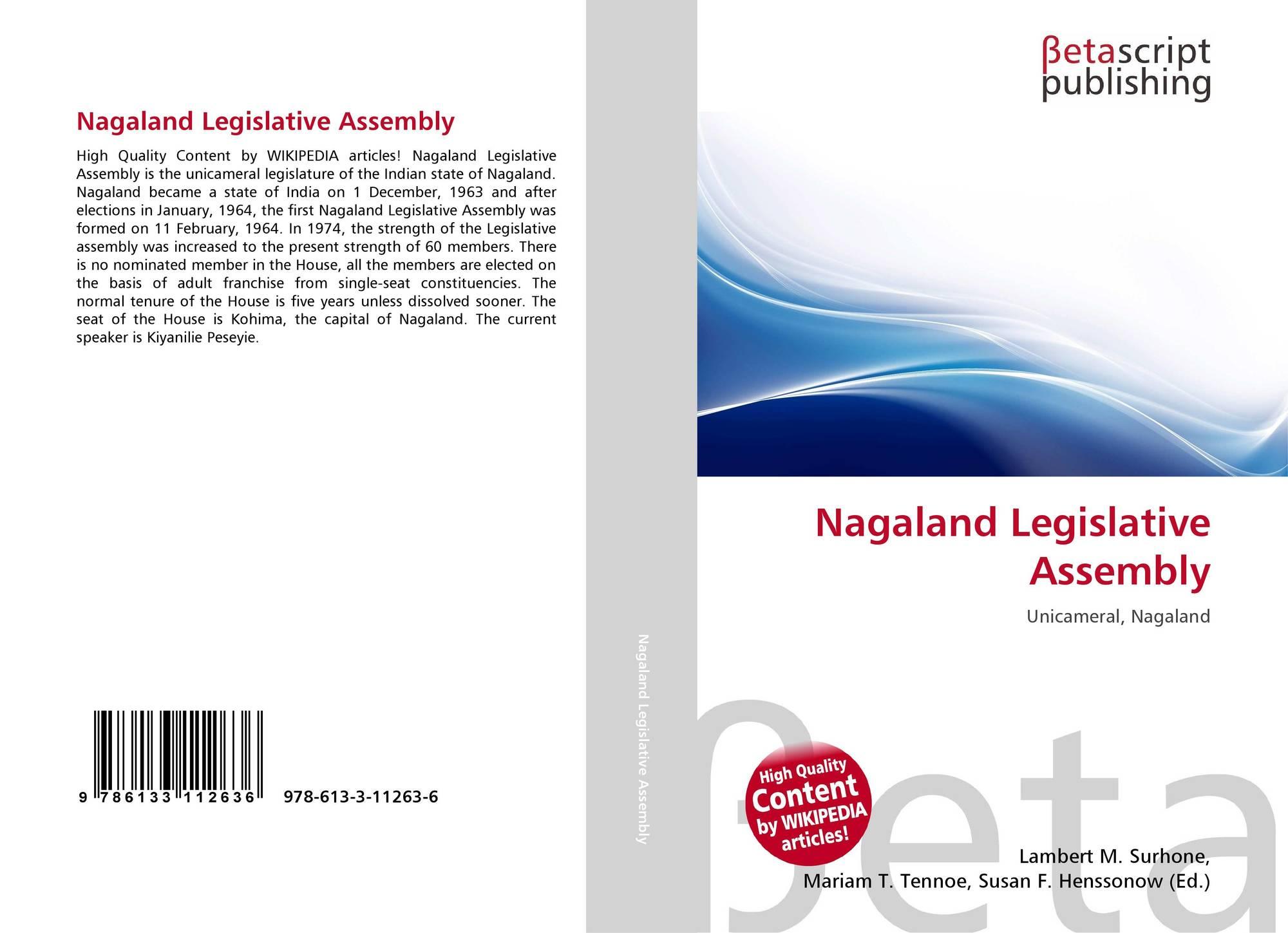 Nagaland Legislative Assembly, 978-613-3-11263-6, 6133112638