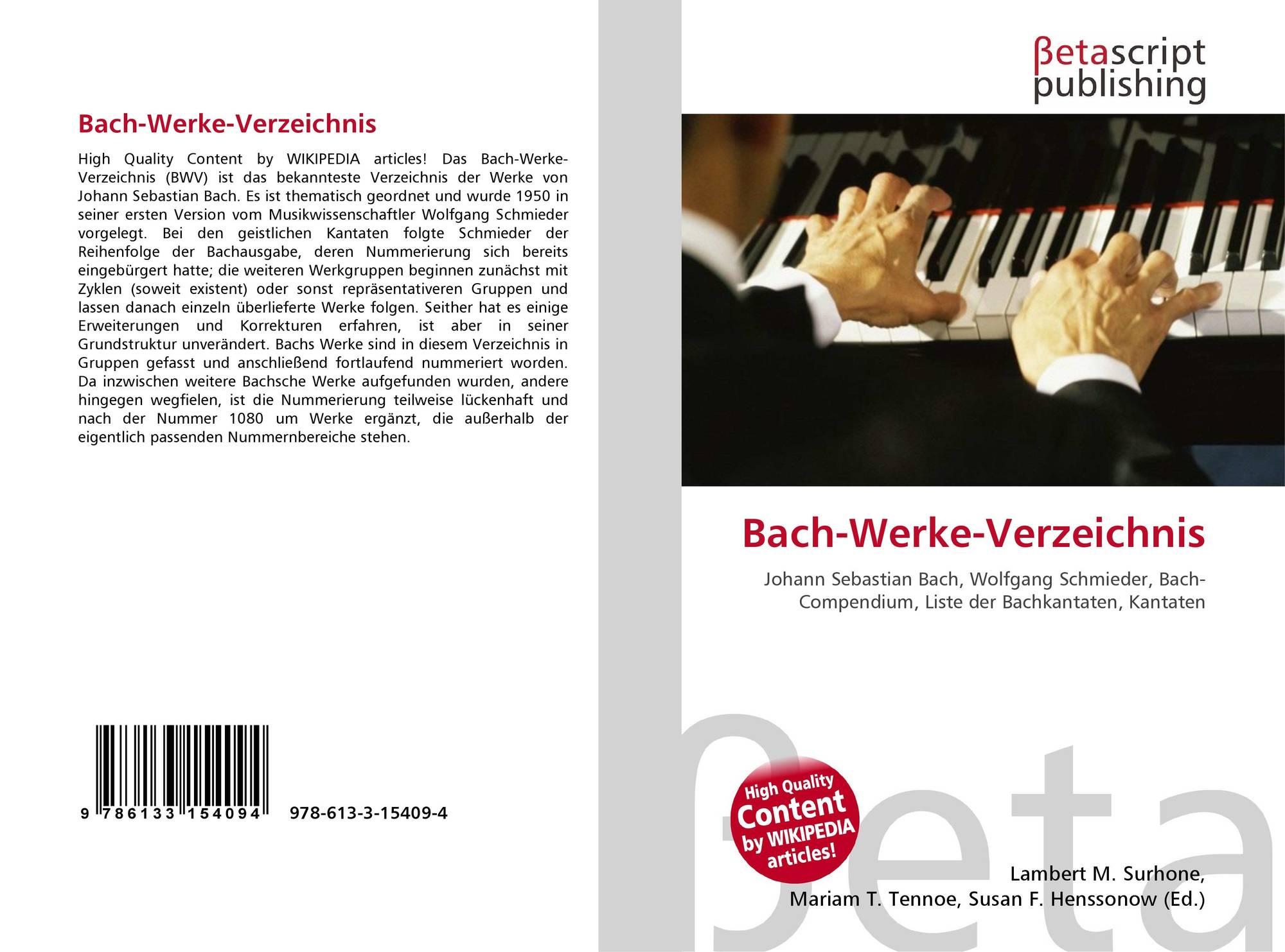 Liste Bach Kantaten