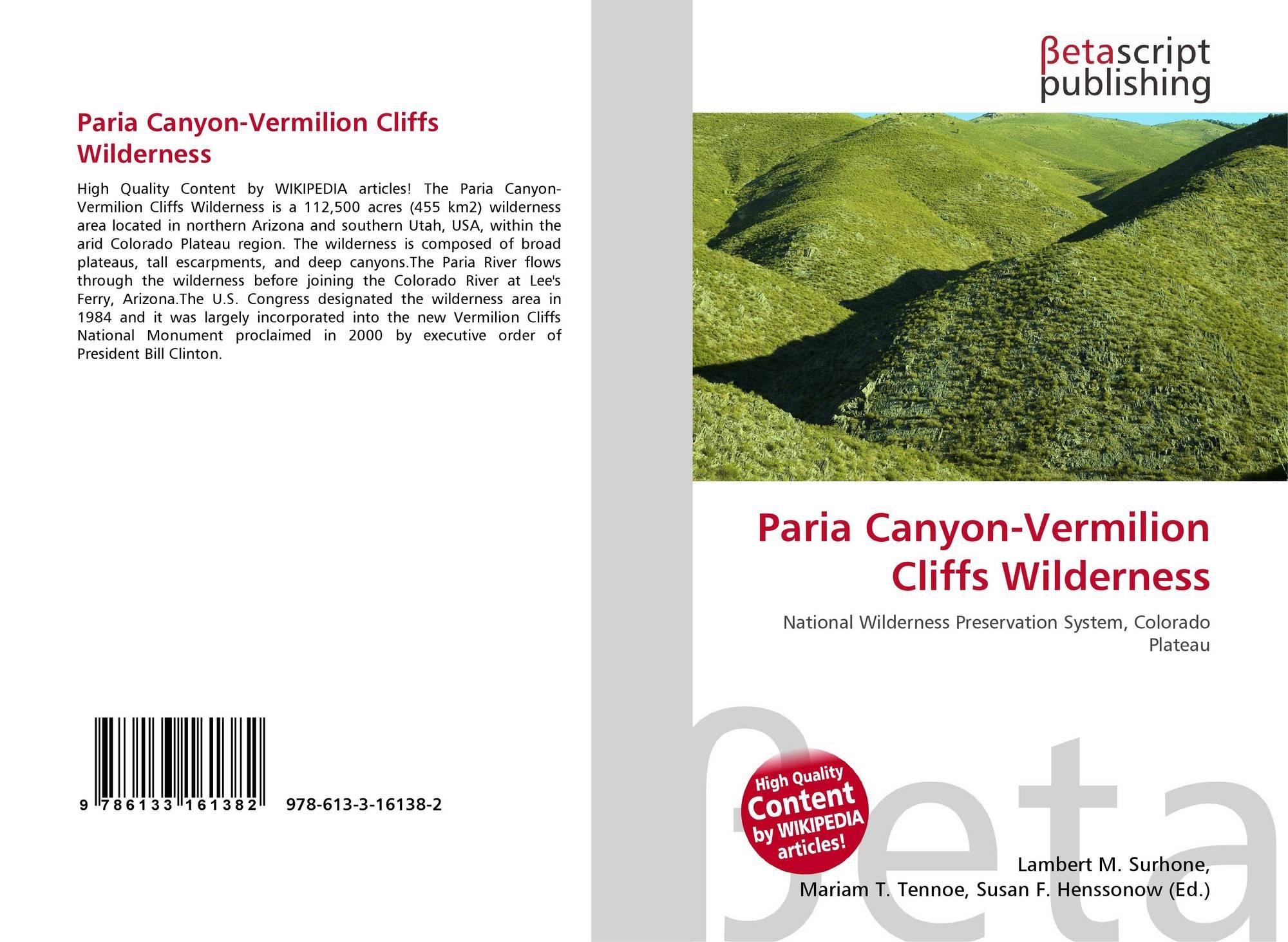 Illinois vermilion county muncie - Bookcover Of Paria Canyon Vermilion Cliffs Wilderness