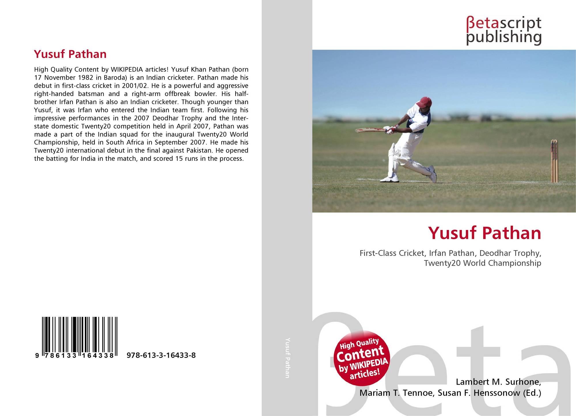 Yusuf Pathan, 978-613-3-16433-8, 6133164336 ,9786133164338