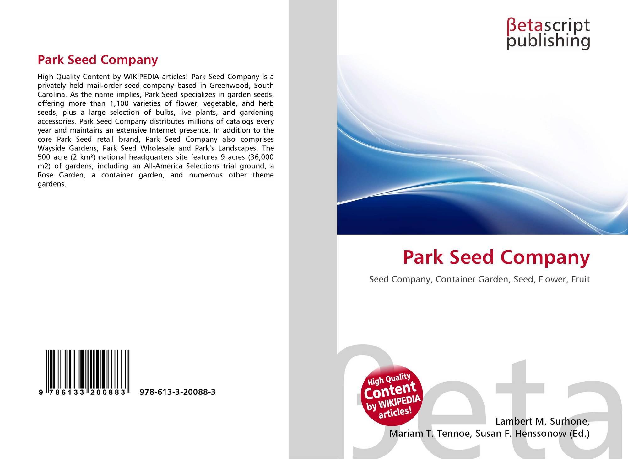 Park Seed Company, 978-613-3-20088-3, 613320088X ,9786133200883
