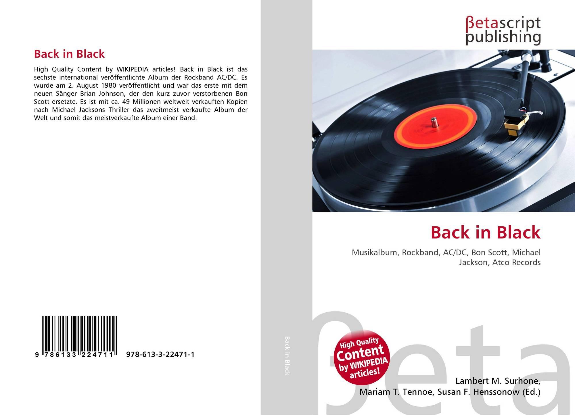 e6165c945 Bookcover of Back in Black