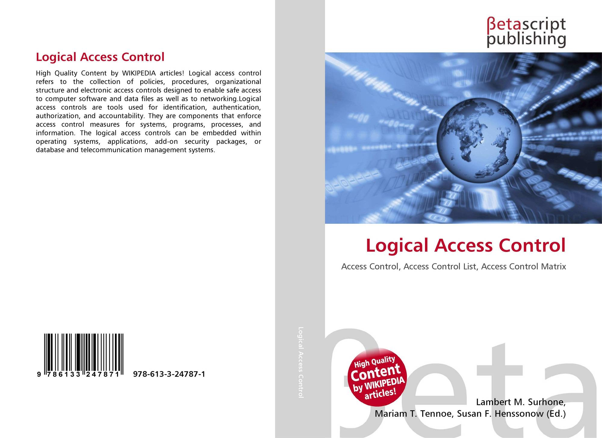Logical Access Control, 978-613-3-24787-1, 6133247878