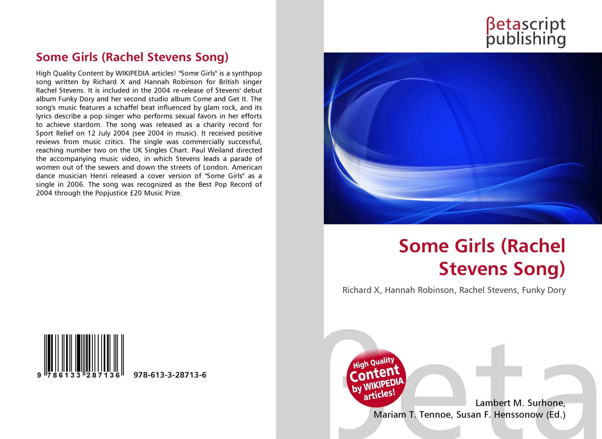Some Girls Rachel Stevens Song 978 613 3 28713 6 6133287136 9786133287136